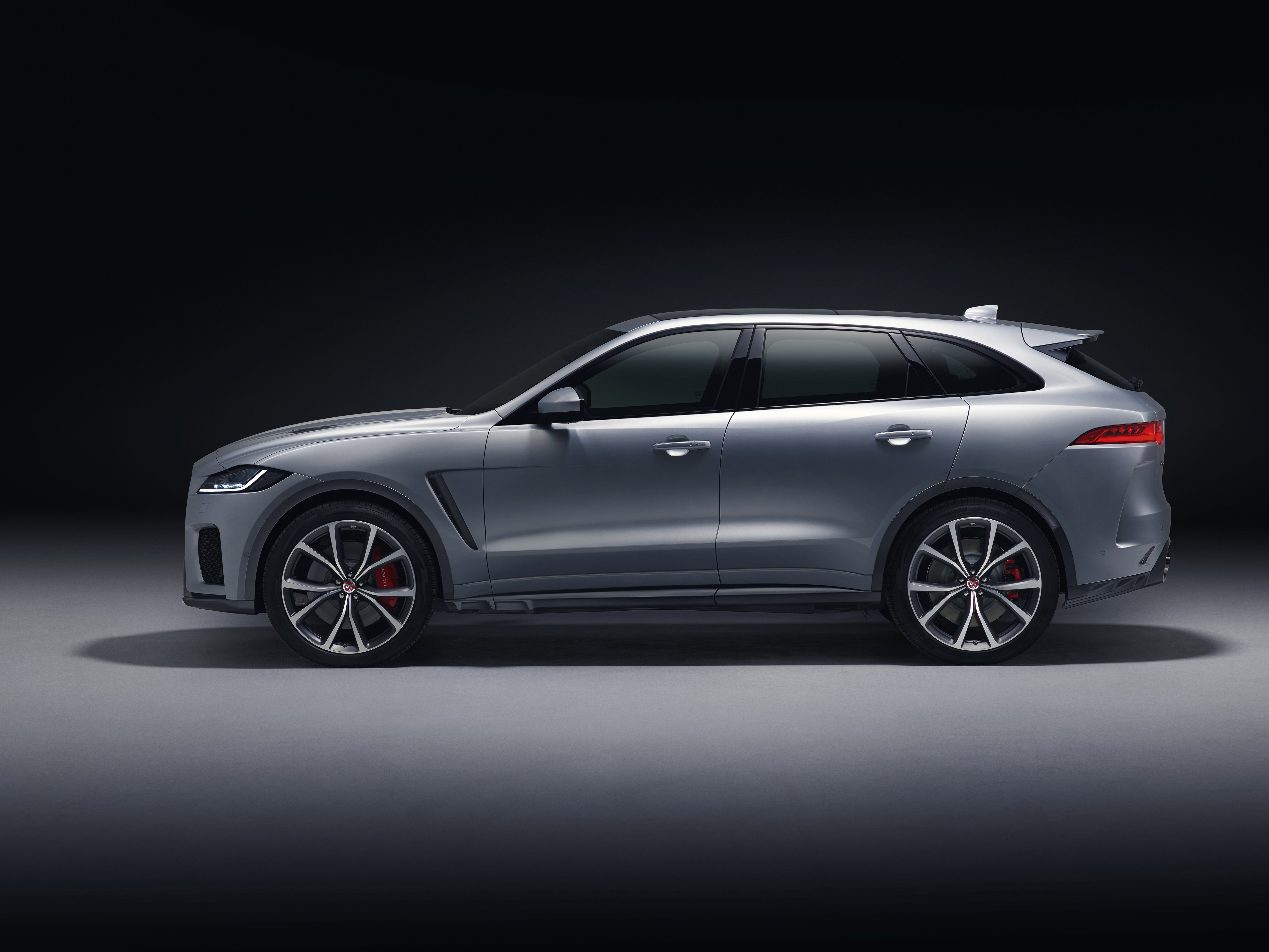 Side fins feature at the side of the F-Pace