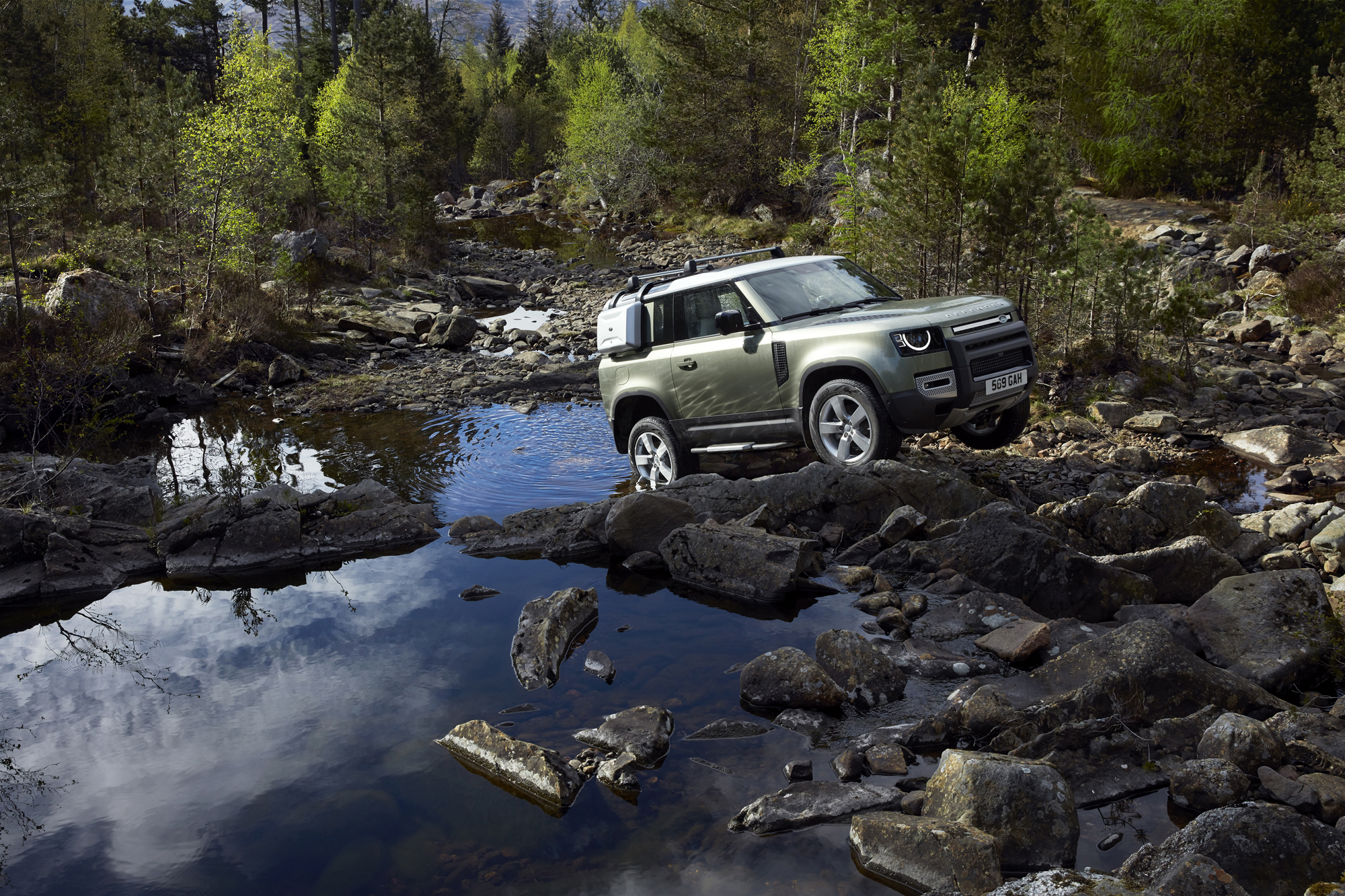 The 4x4 has a wading depth of up to 90cm (Land Rover/PA)