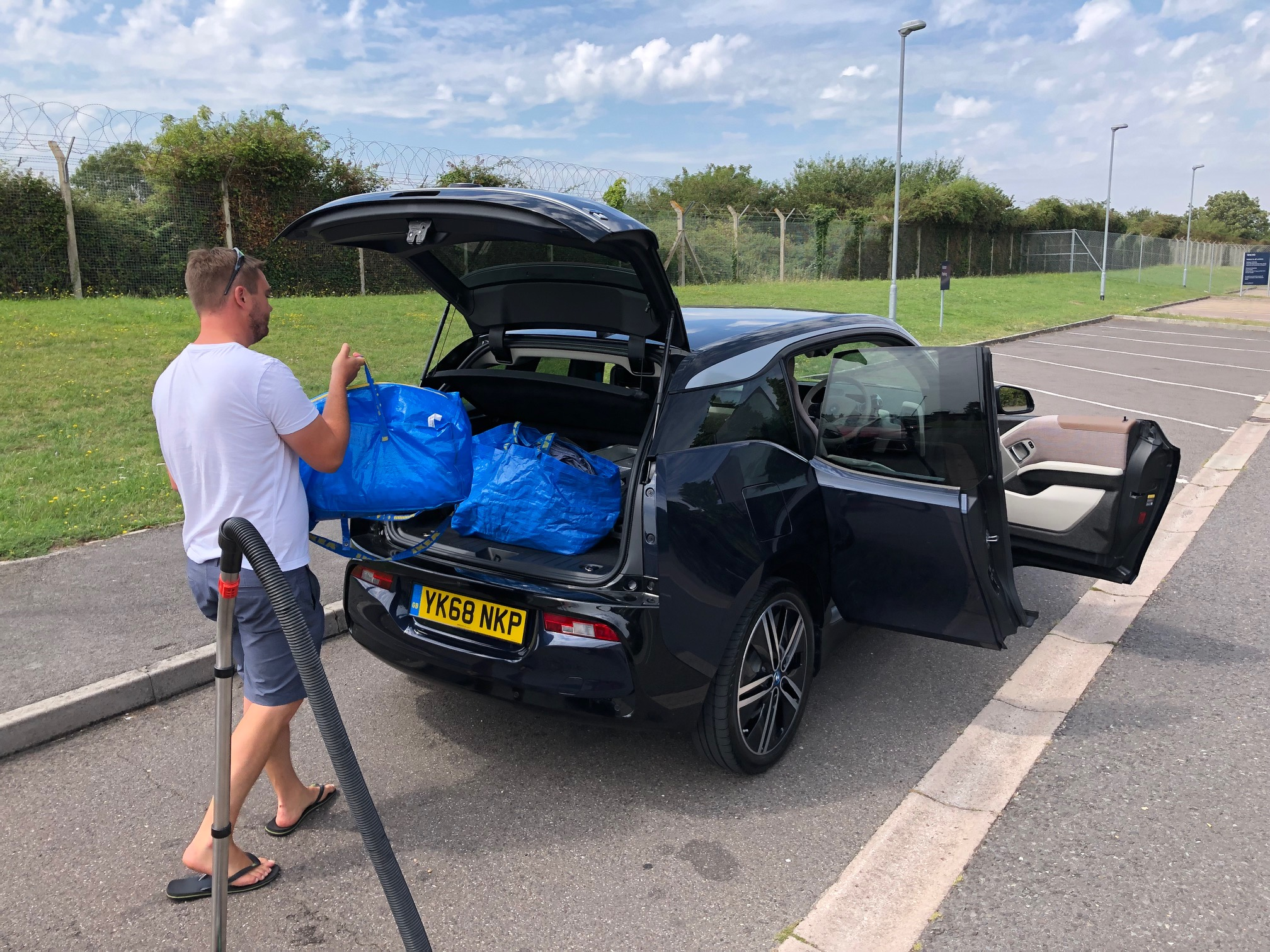 The i3 is an easy car to load up with luggage