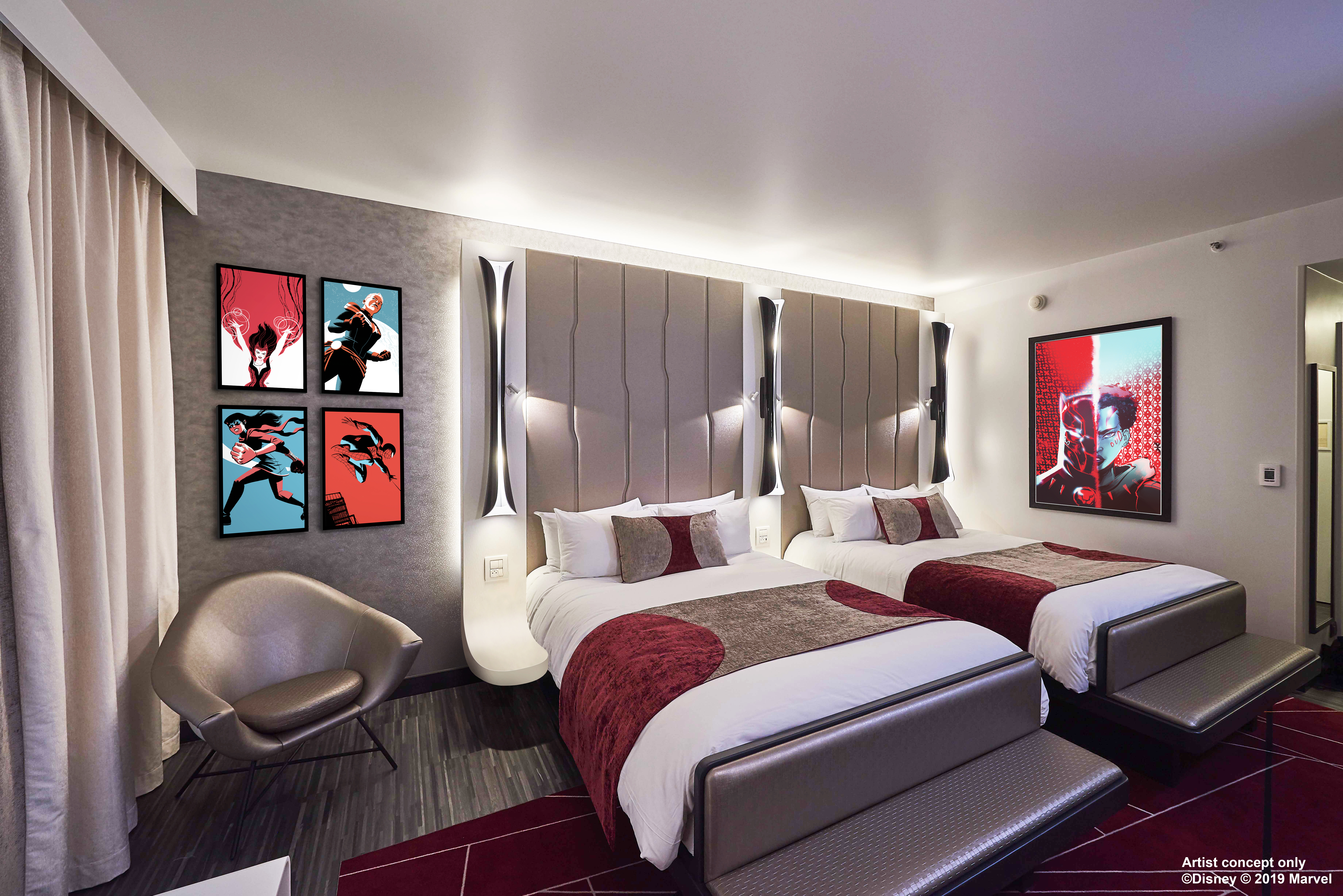 An artist's impression of an Empire State Club Room at Disney's Hotel New York: The Art Of Marvel (Disney/Marvel/PA)