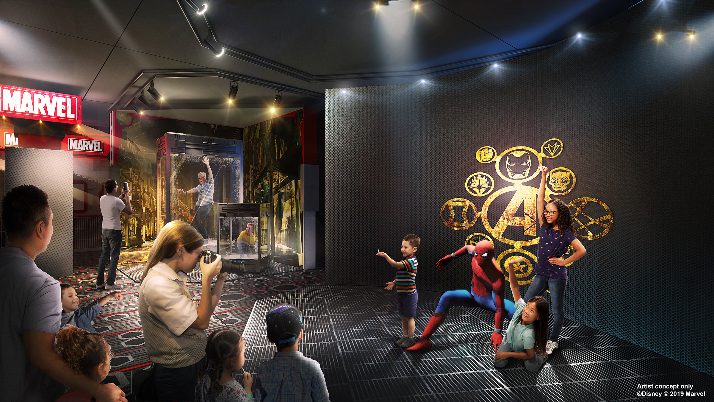 An artist's impression of Super Hero Station at Disney's Hotel New York: The Art Of Marvel (Disney/Marvel/PA)