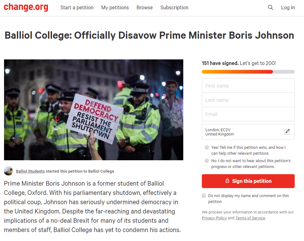 The anti-Johnson petition