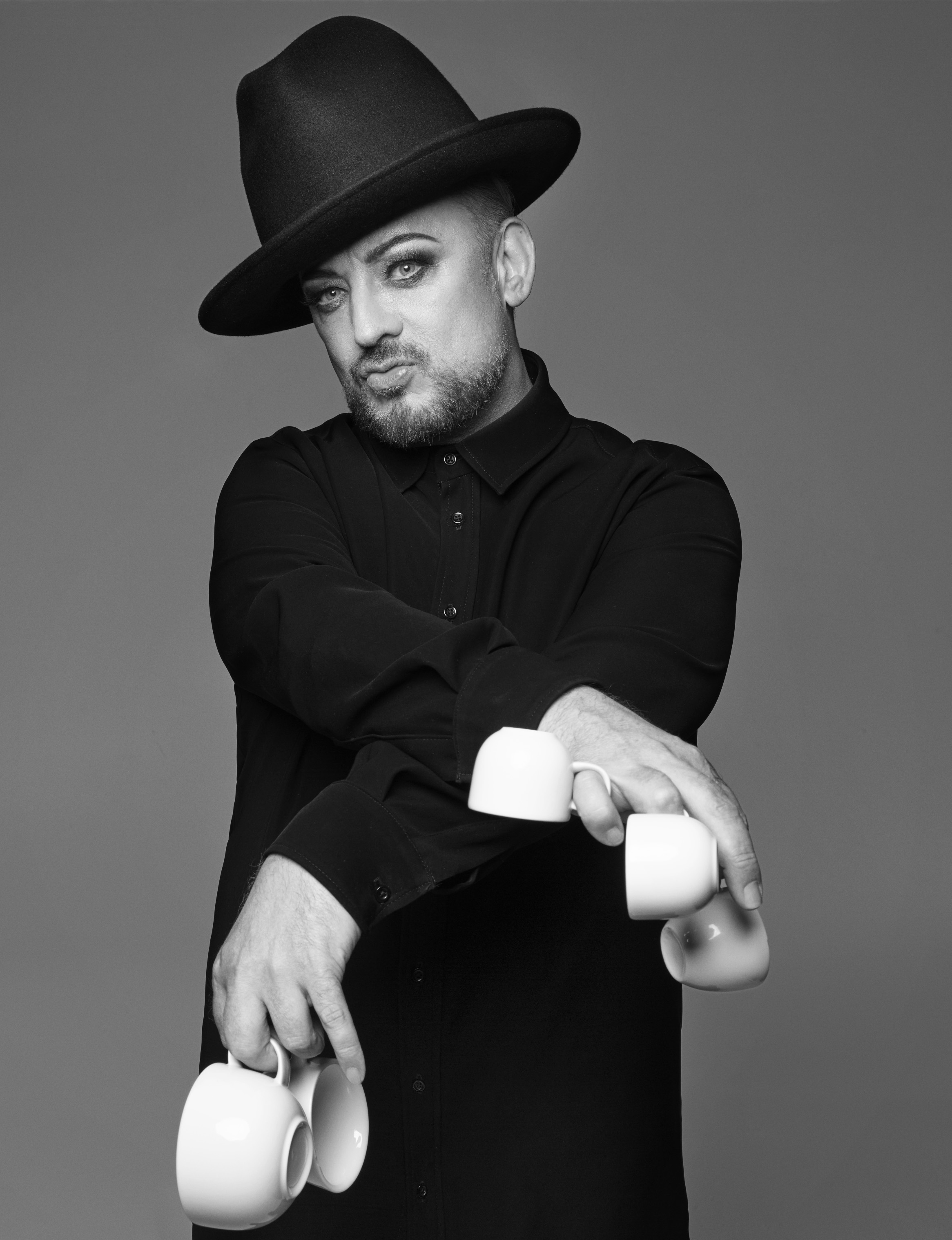 Boy George has been photographed by Rankin