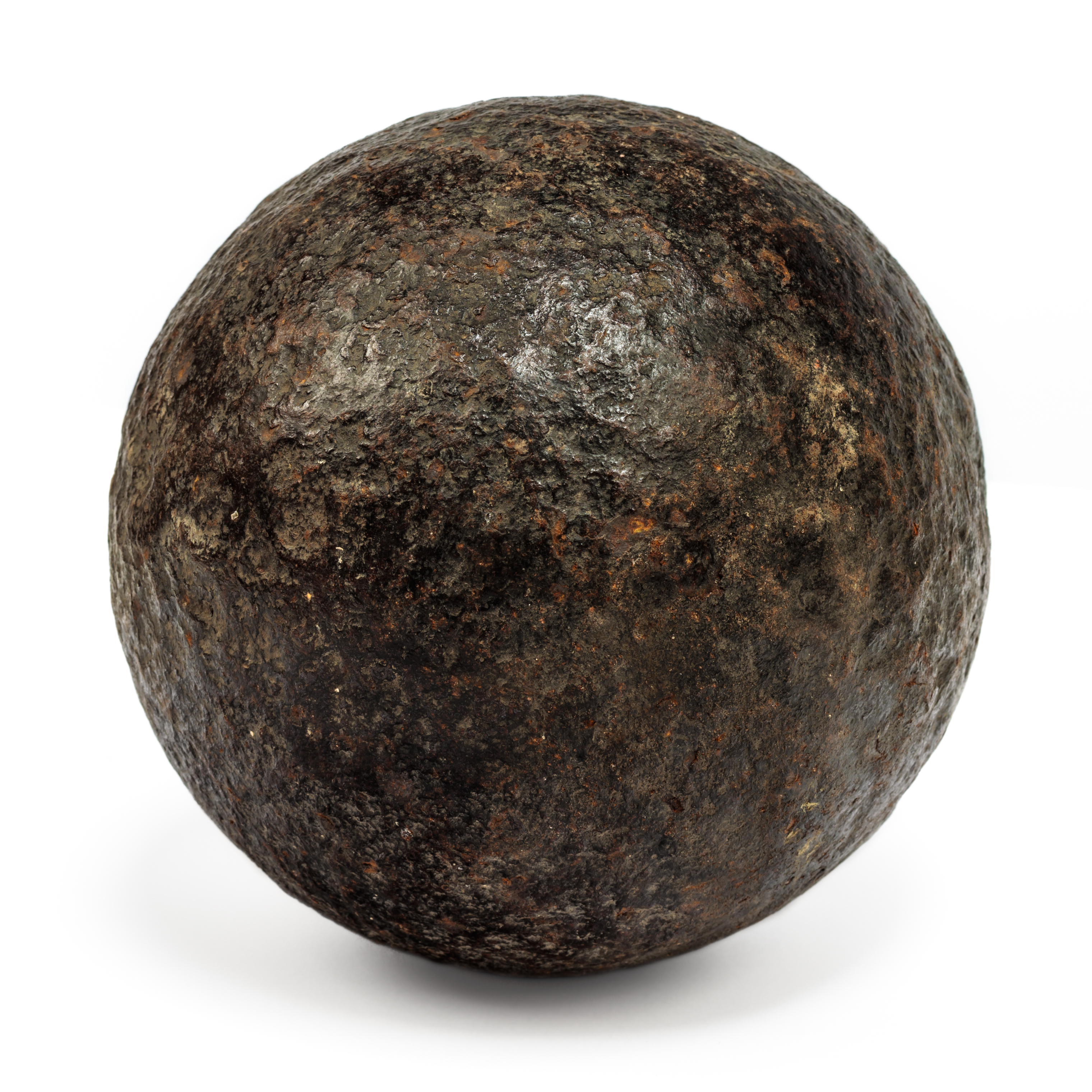 The cannonball, like this one, was dislodged from a tree in Kansas City