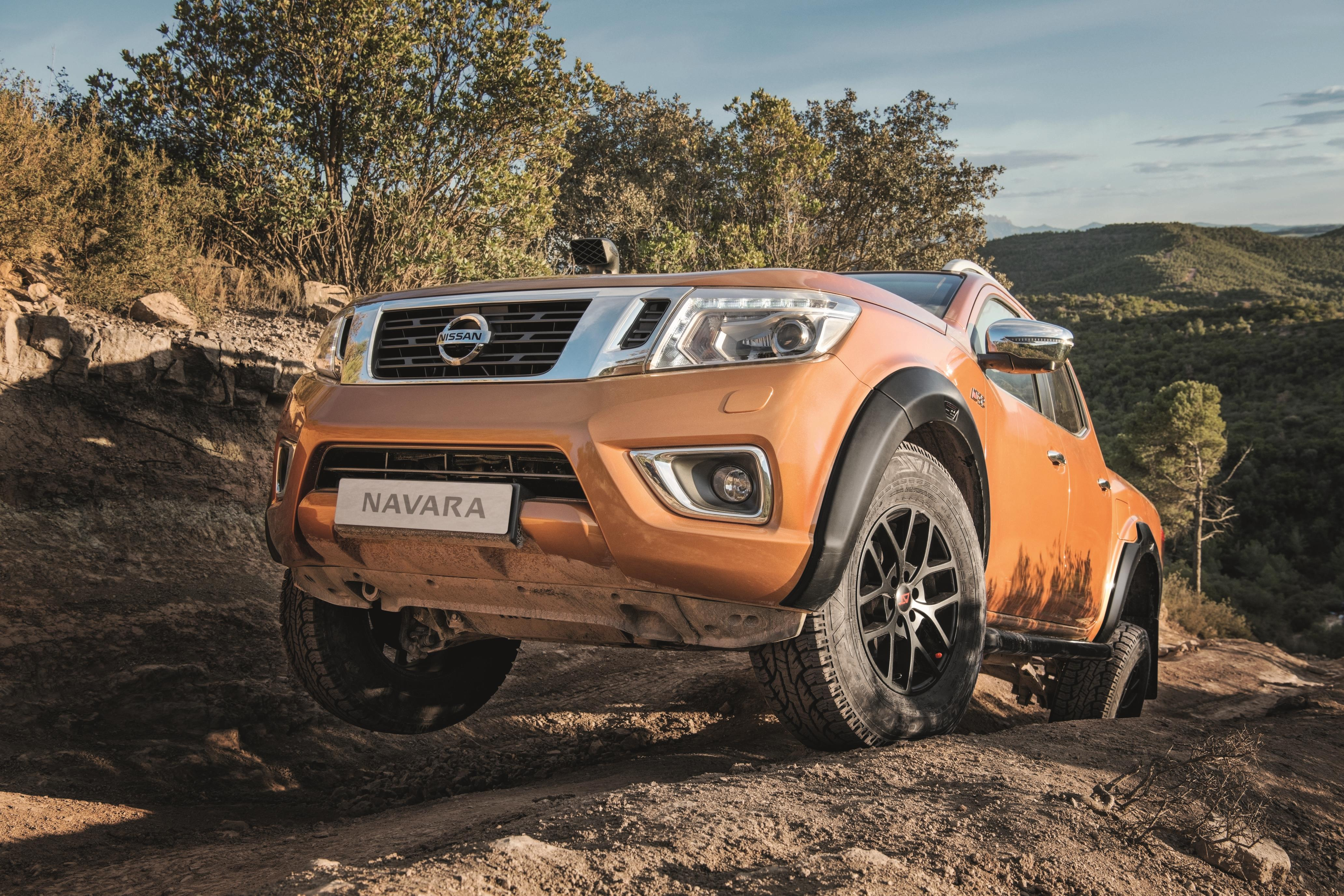 The Navara is at its most aggressive in Arctic Trucks layout