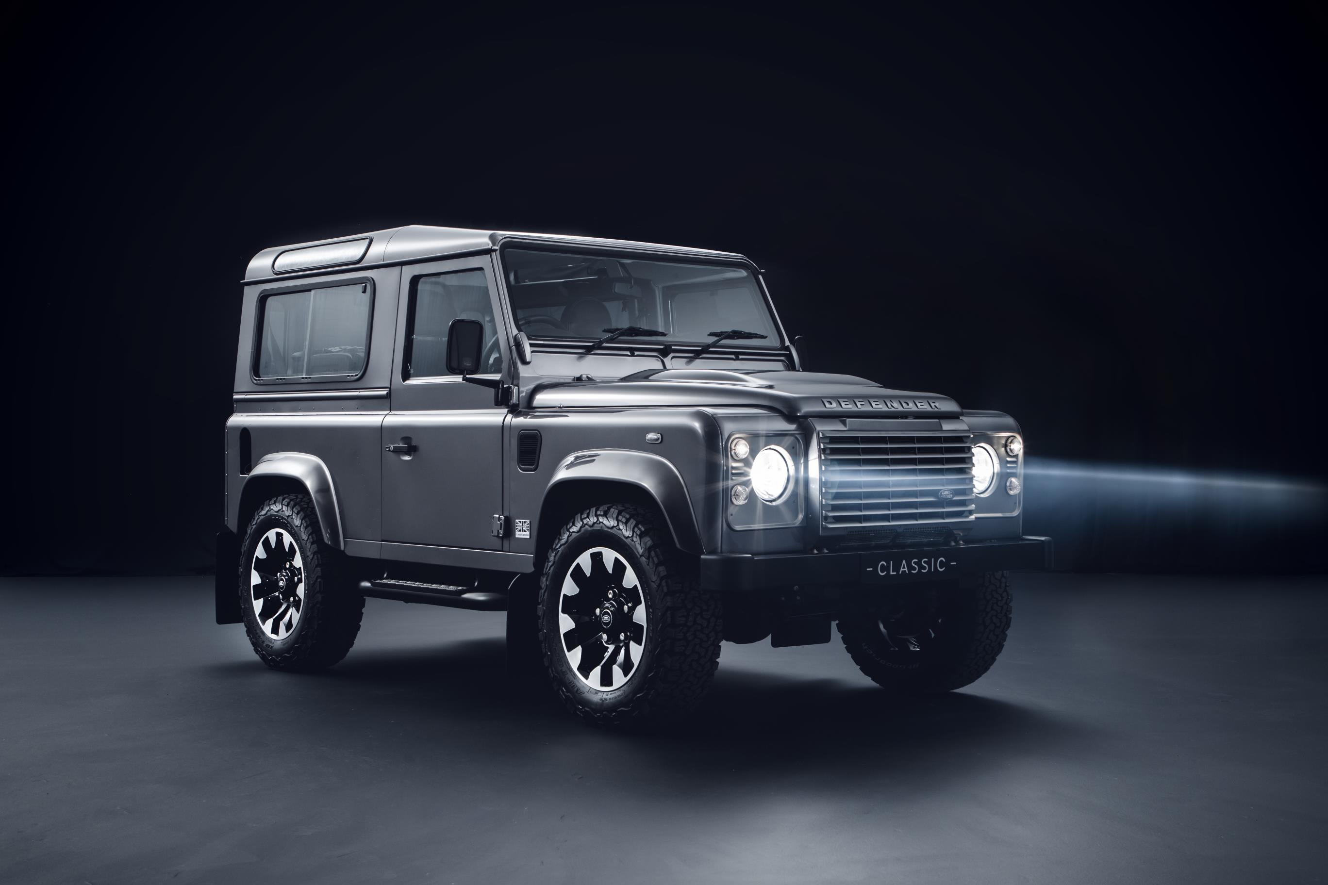 The classic Defender is hard to miss