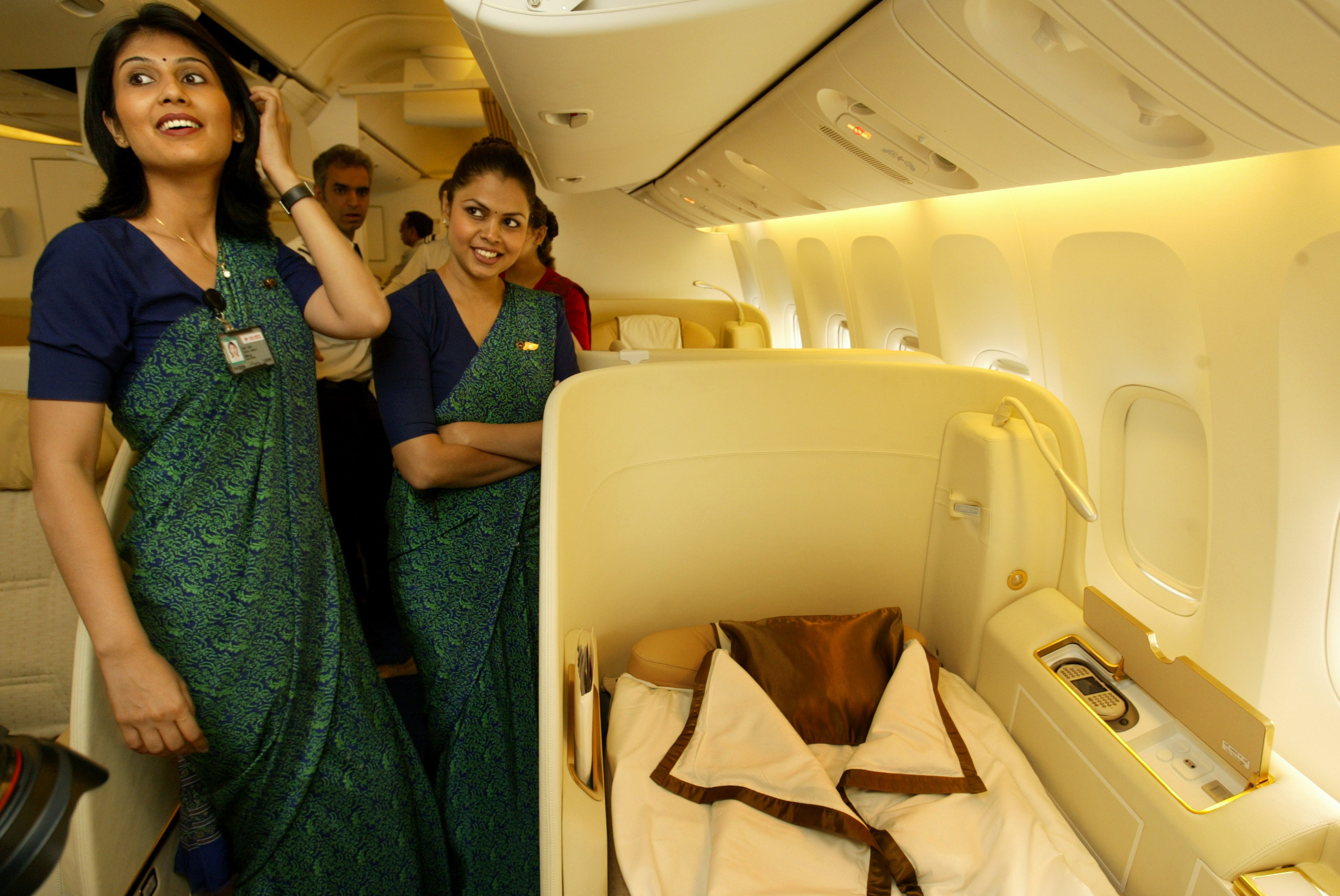 Air India staff  in first class