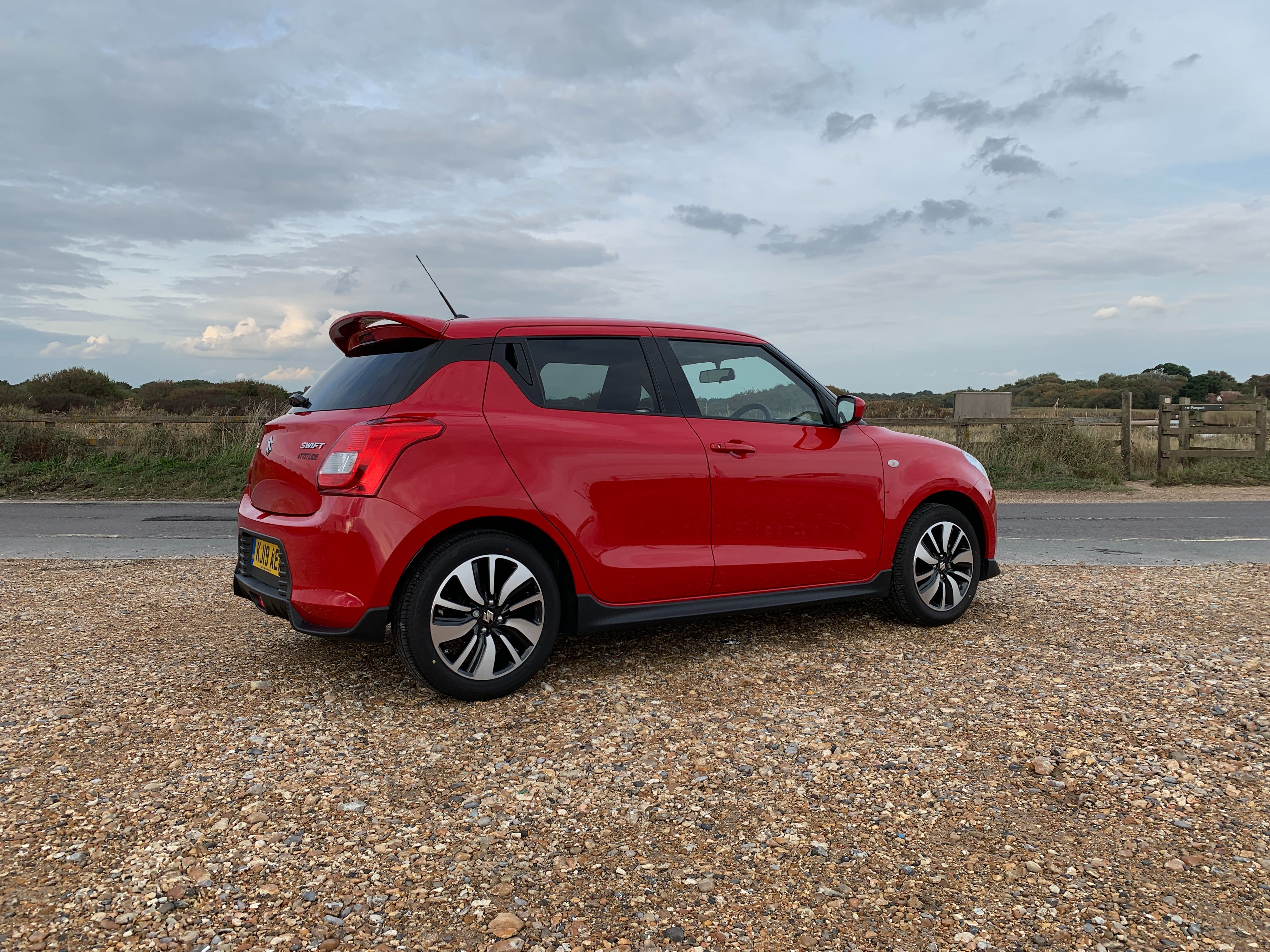 A small spoiler gives the Swift a sporty appearance