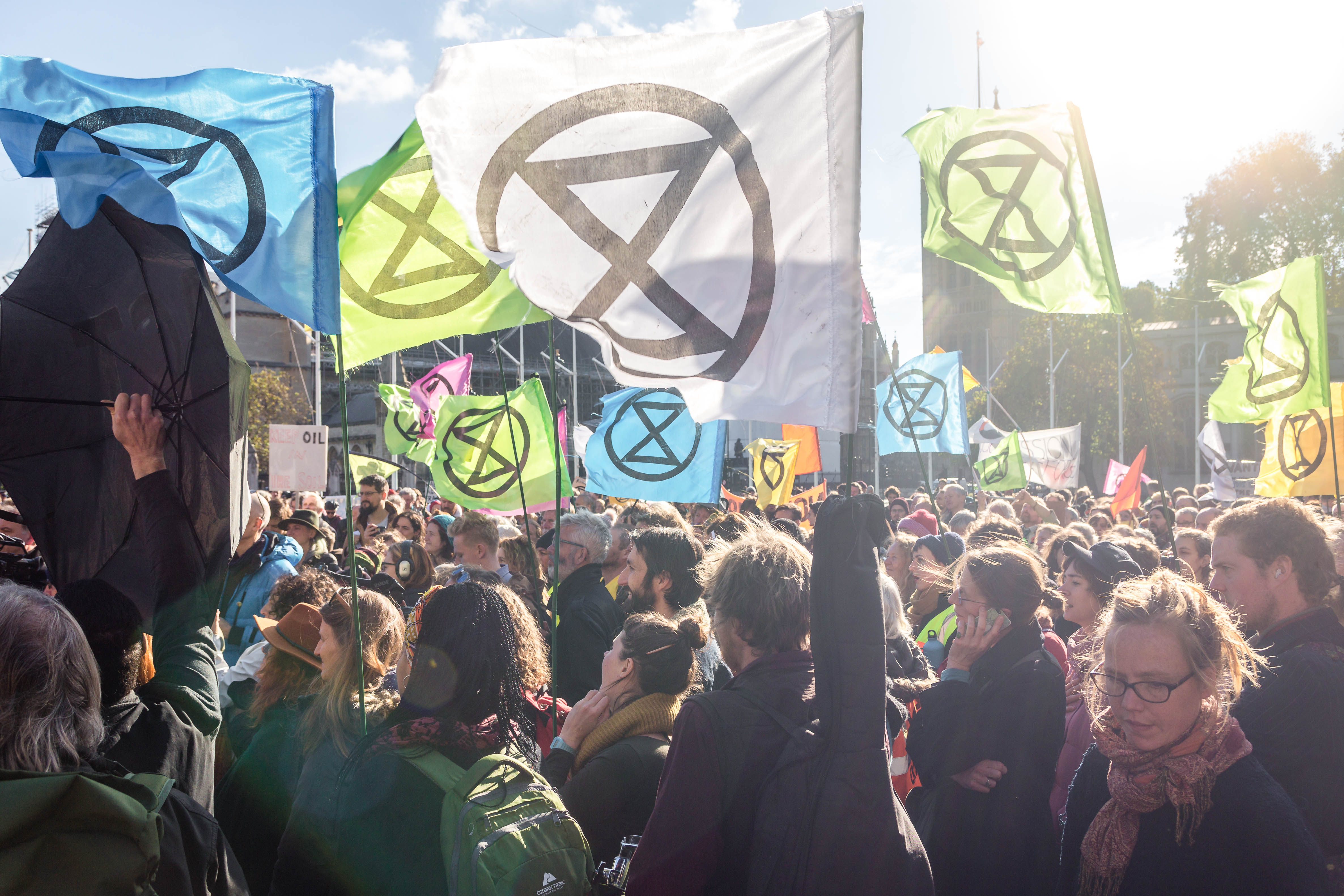 Extinction Rebellion protesters outside Westminster last year