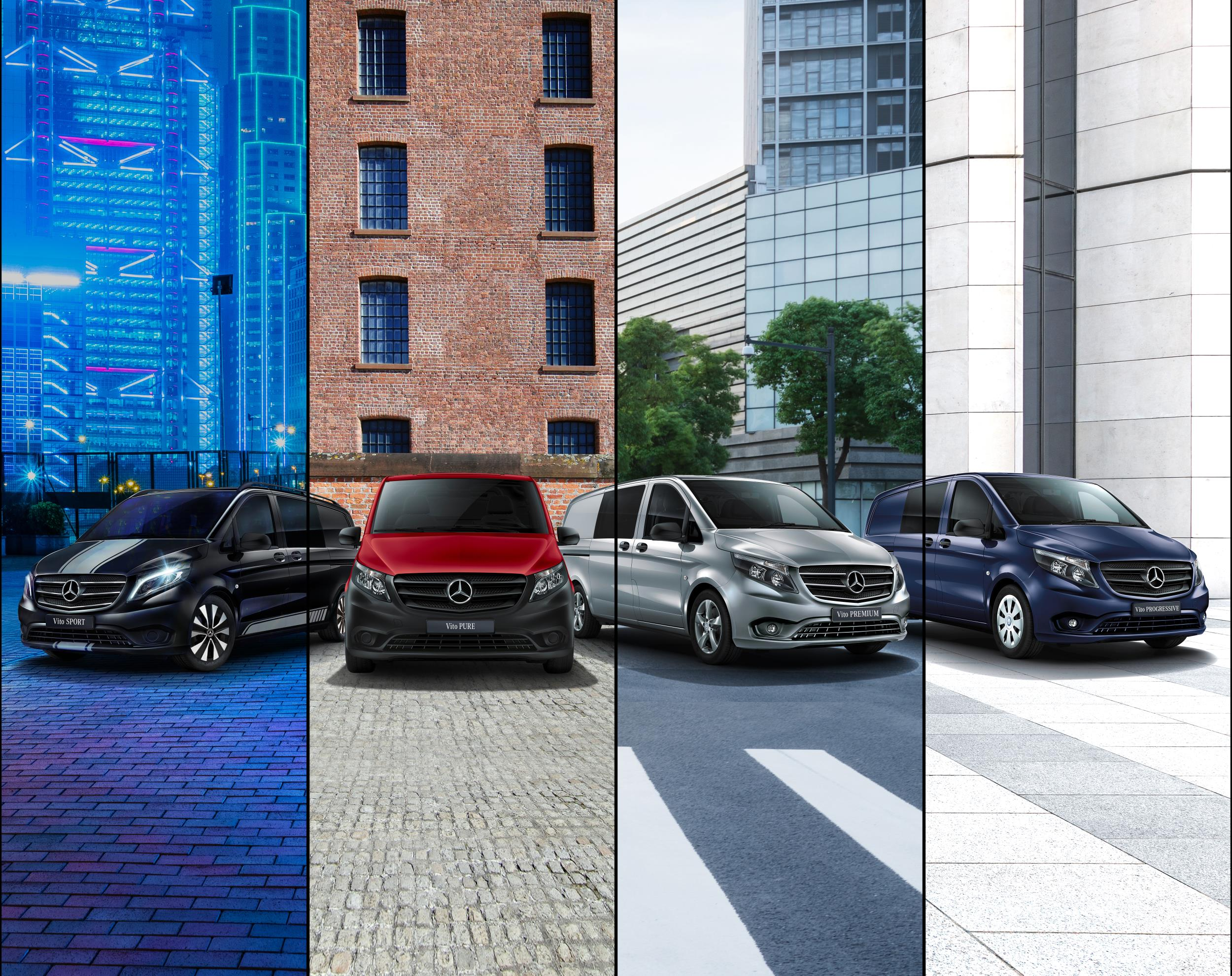 A variety of trim levels are available with the V-Class