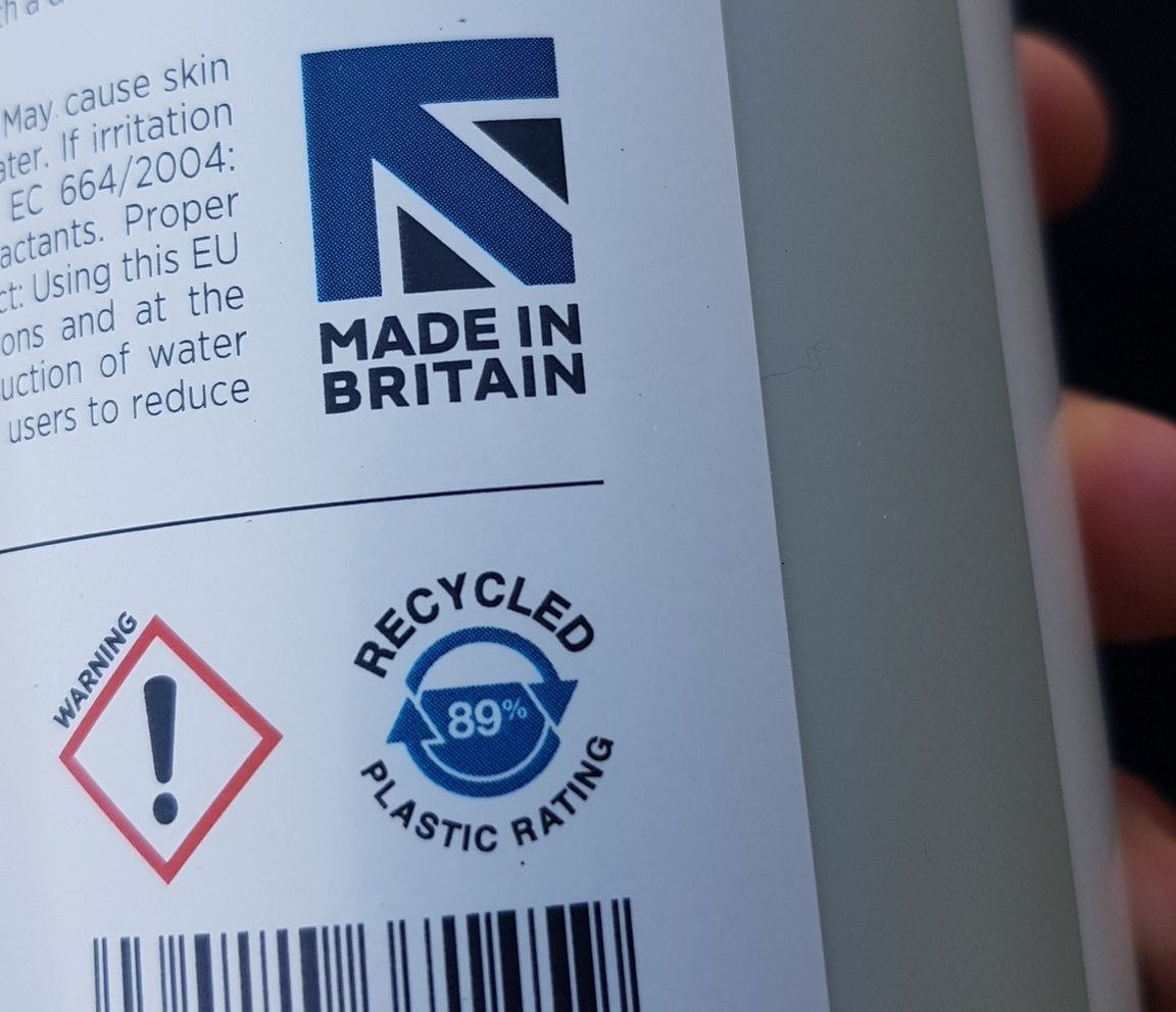 The company has just launched the first recycled content mark on its bottles