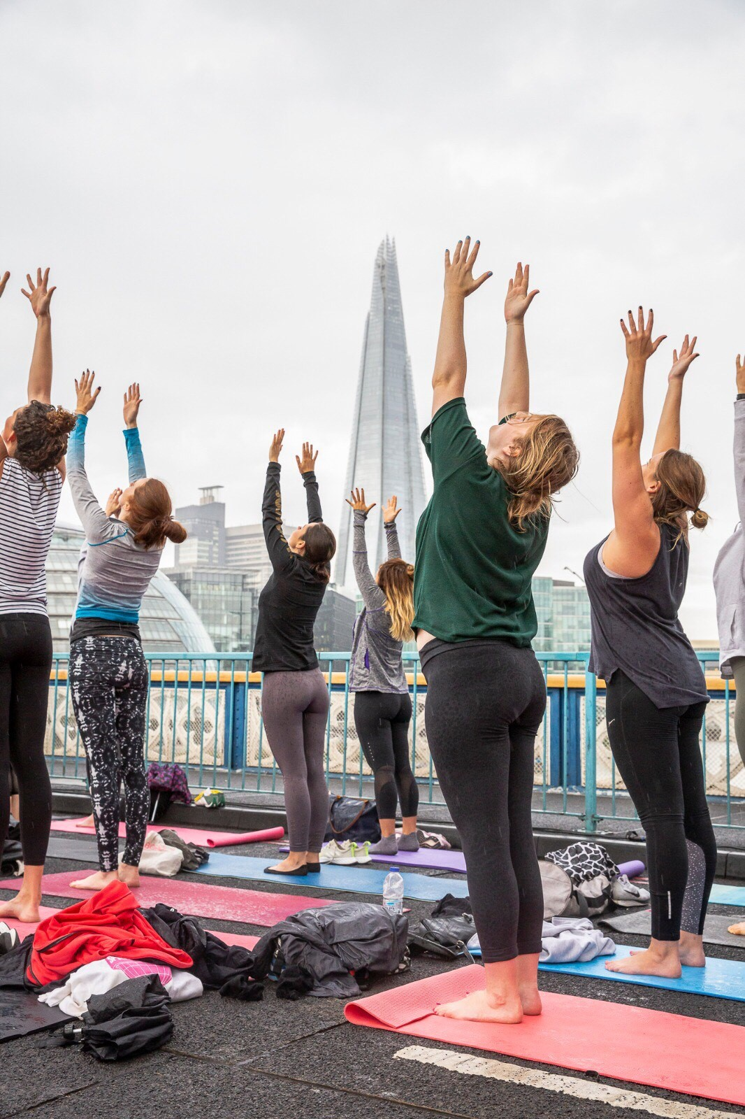 Reimagine Sunrise Flow yoga takes place on Tower Bridge, kicking off Car Free Day on Sunday 22 September