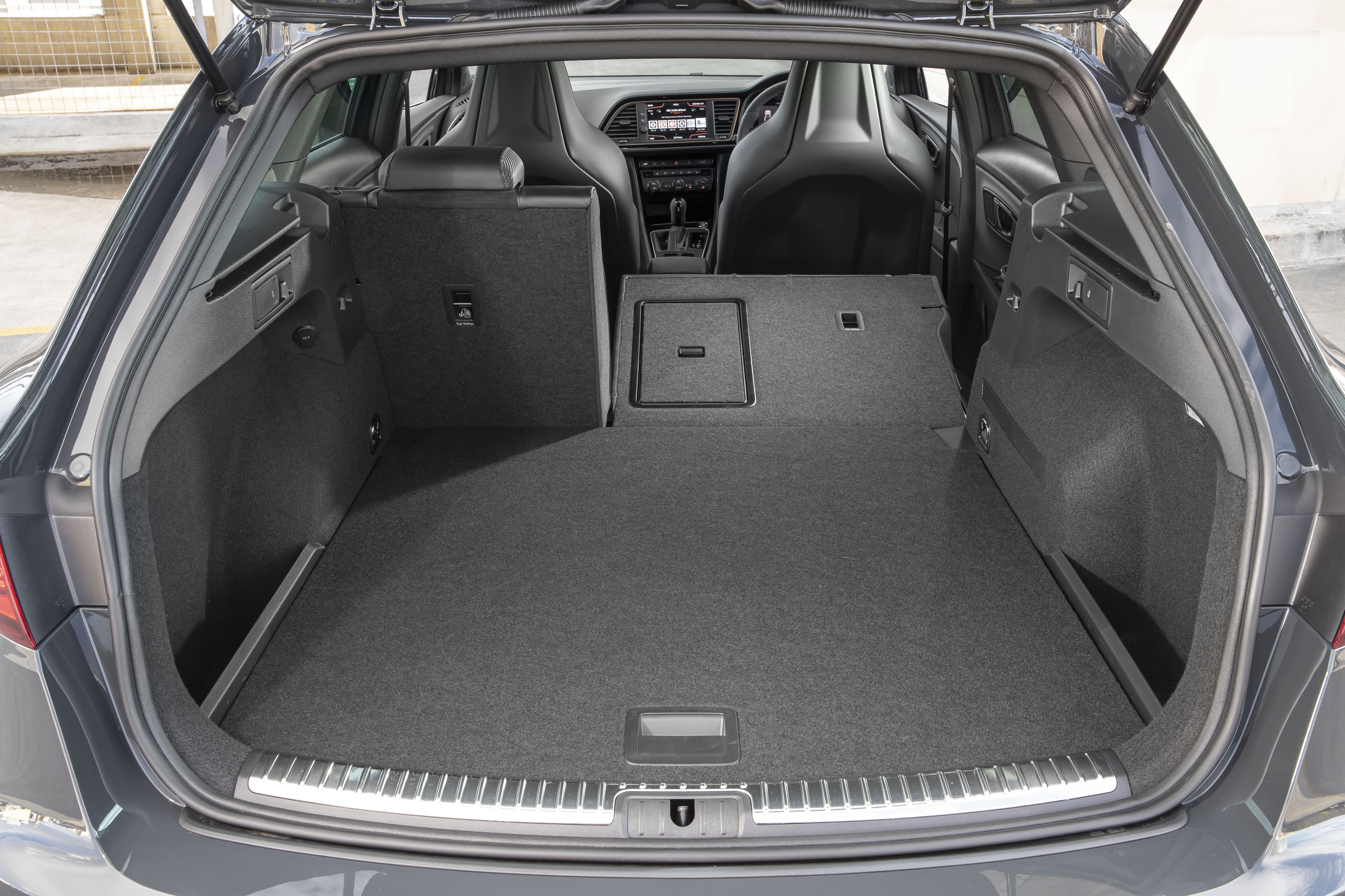 Lowering the rear seats increases boot space impressively
