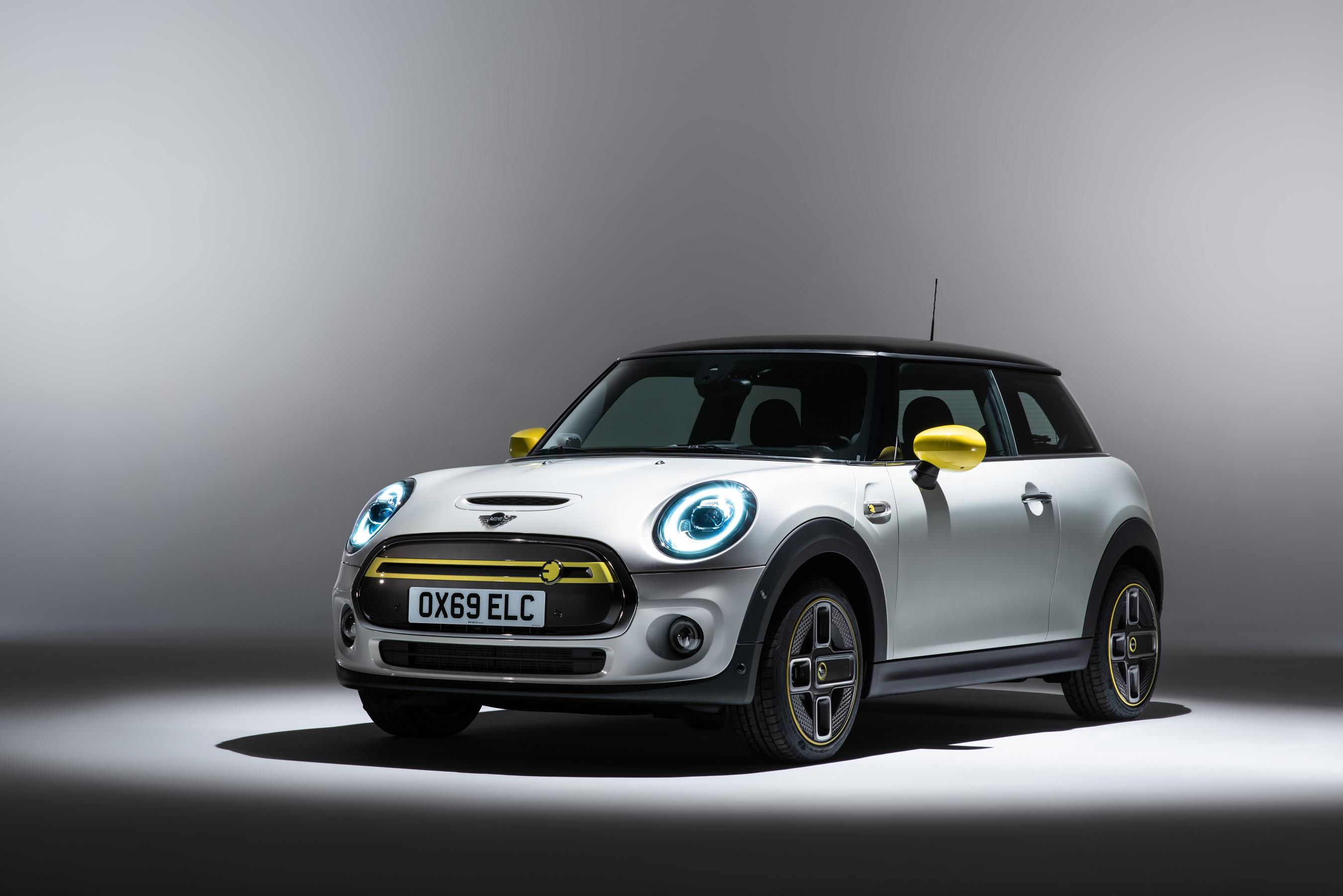 The Mini Electric gets the firm's typically retro styling