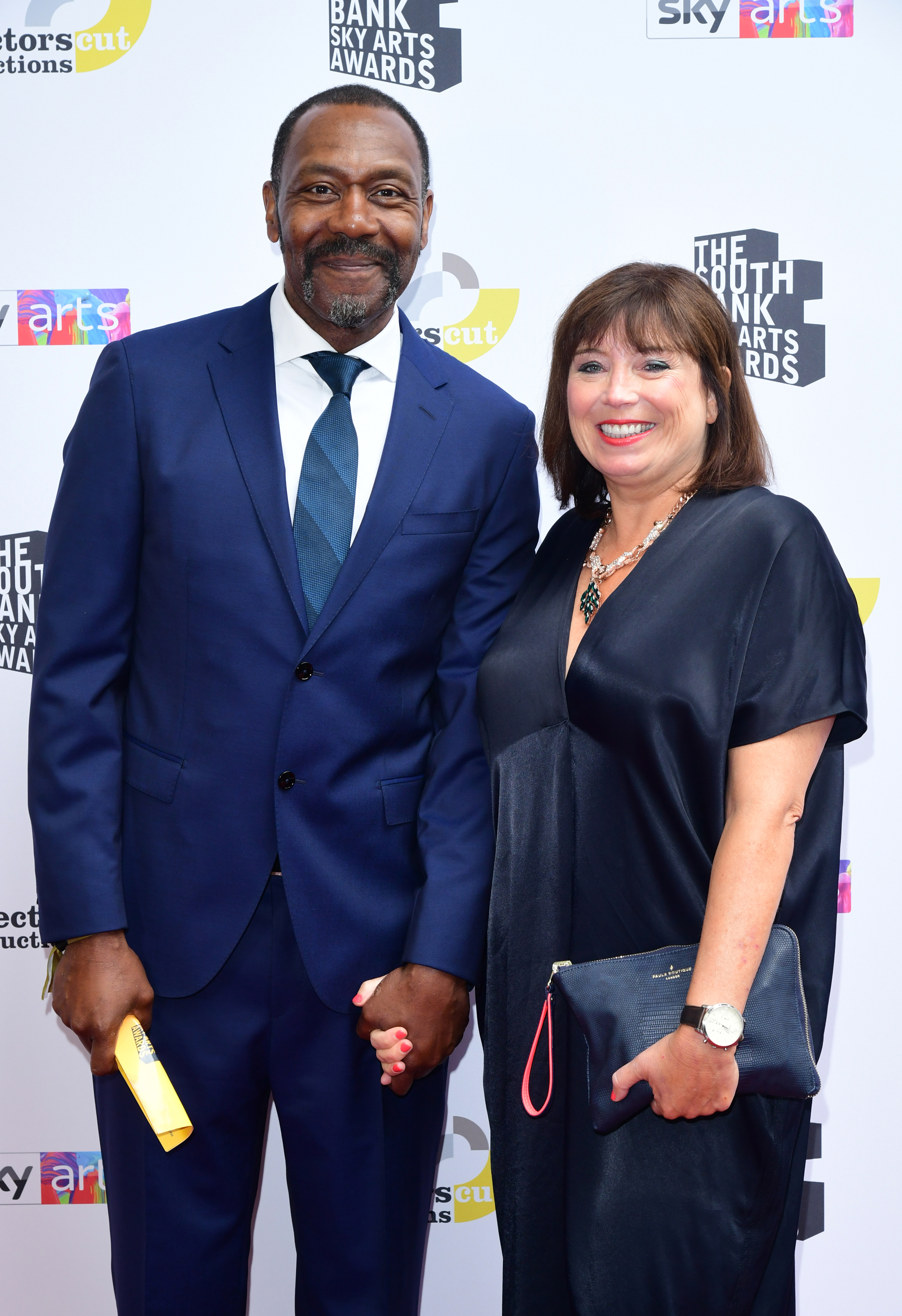 Sir Lenny Henry with his partner, Lisa Makin (Ian West/PA)