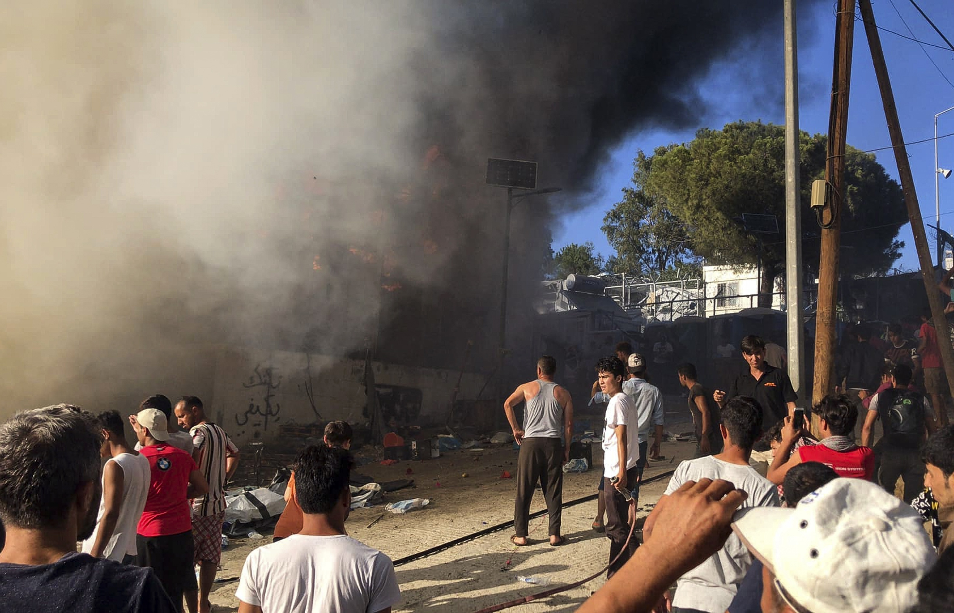 The fire at the Moria refugee camp