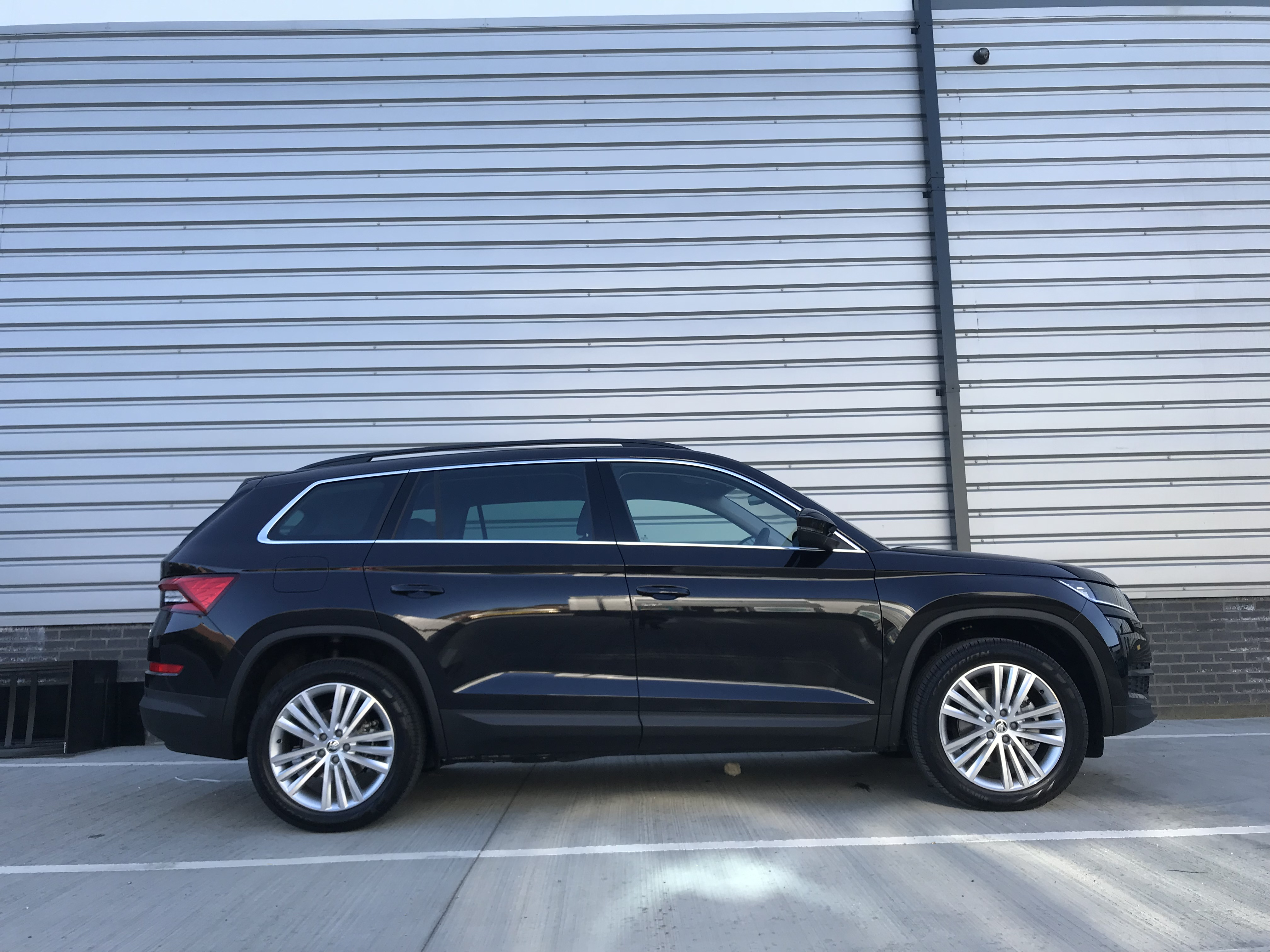 The Kodiaq's vast size means ample interior room
