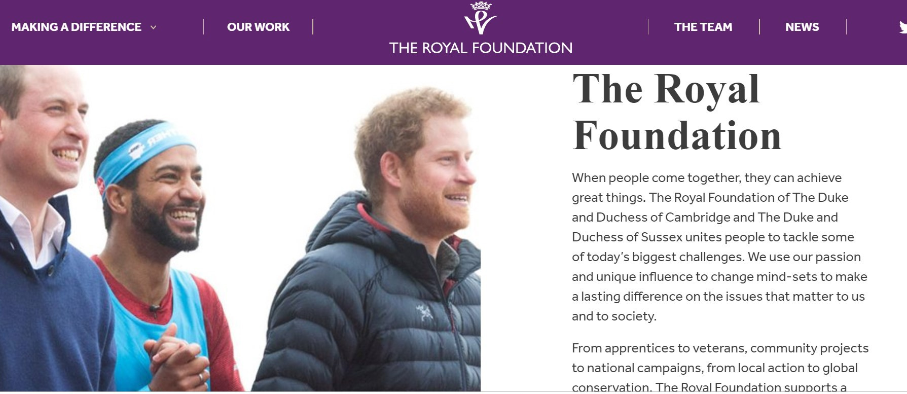 The Royal Foundation site