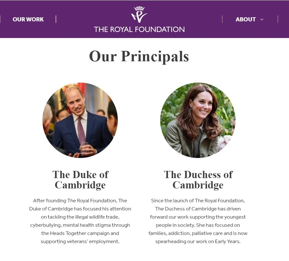 William and Kate's profiles
