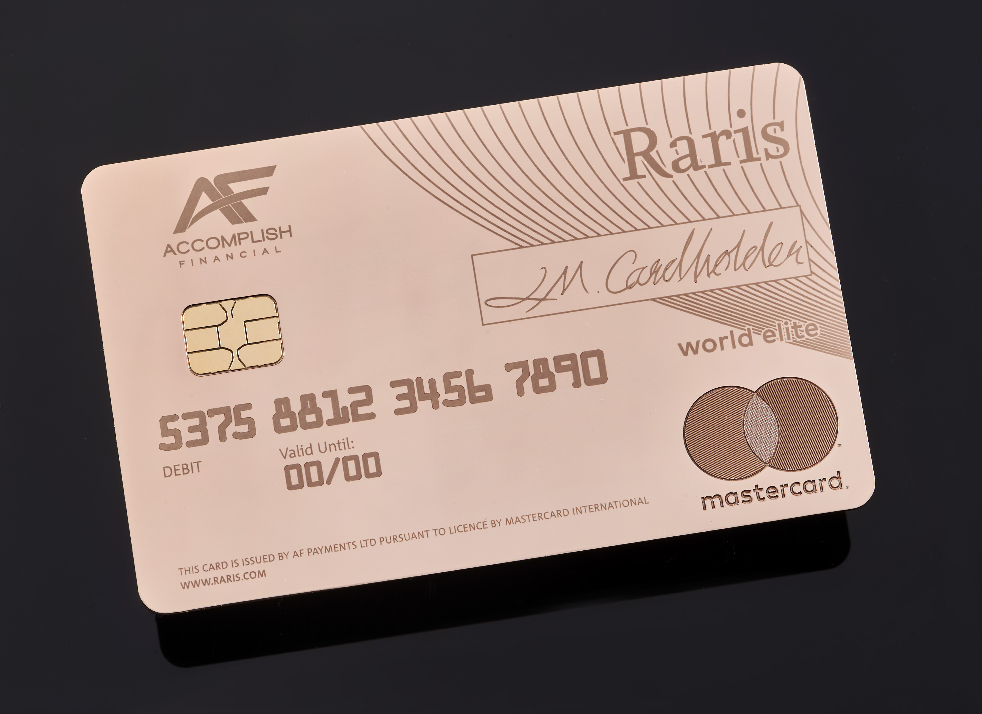Raris gold card