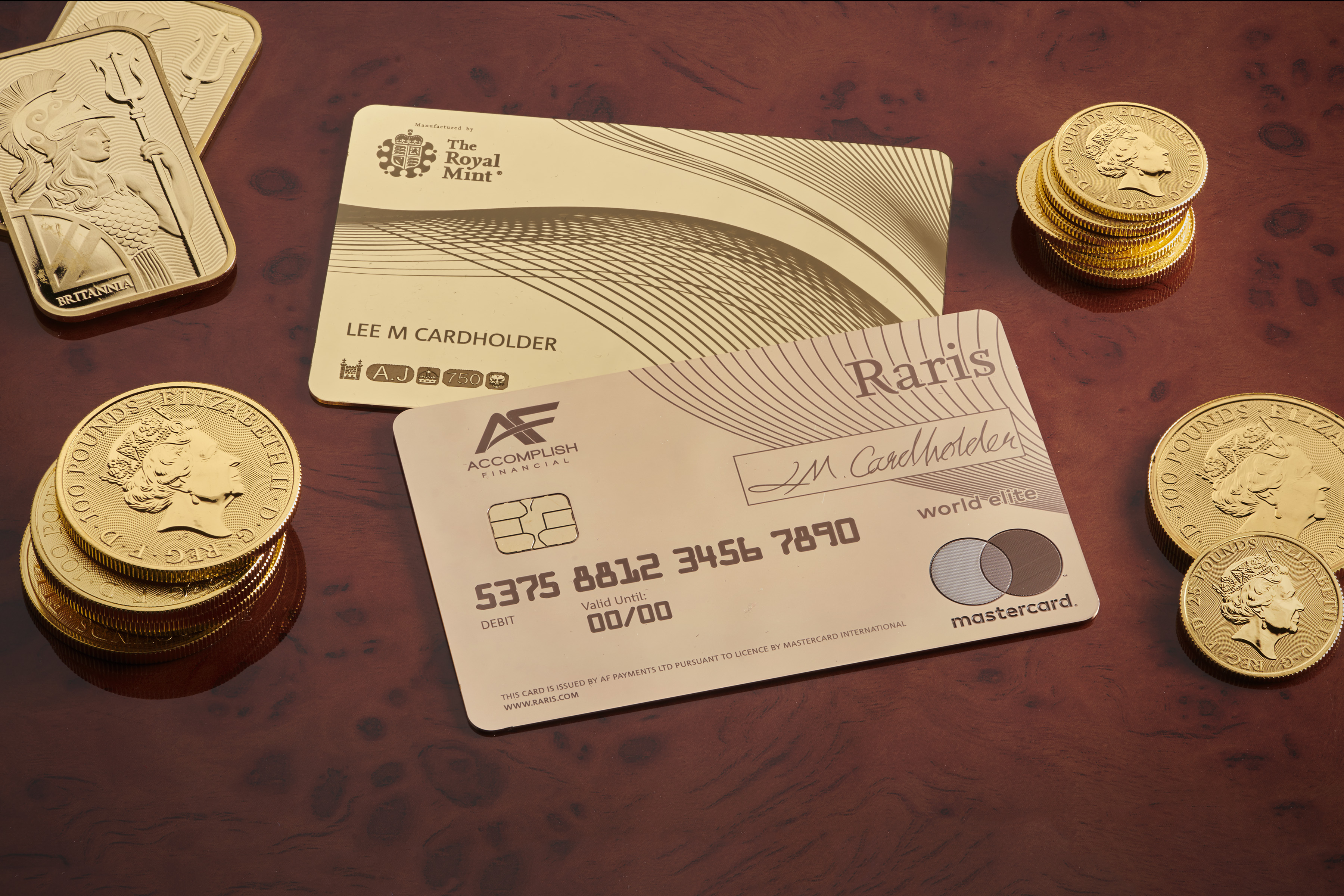 Royal Mint gold card