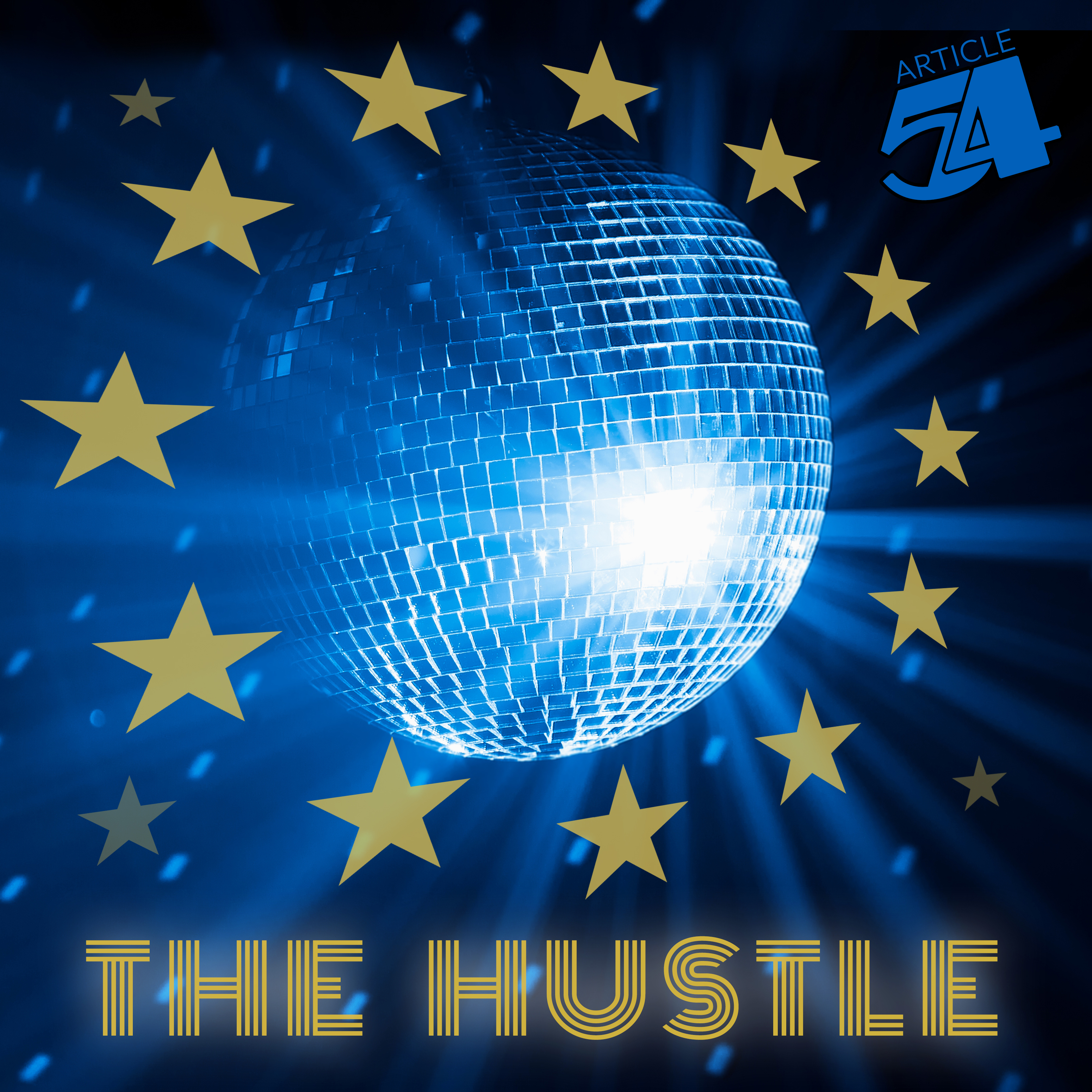 The front cover for the record The Hustle