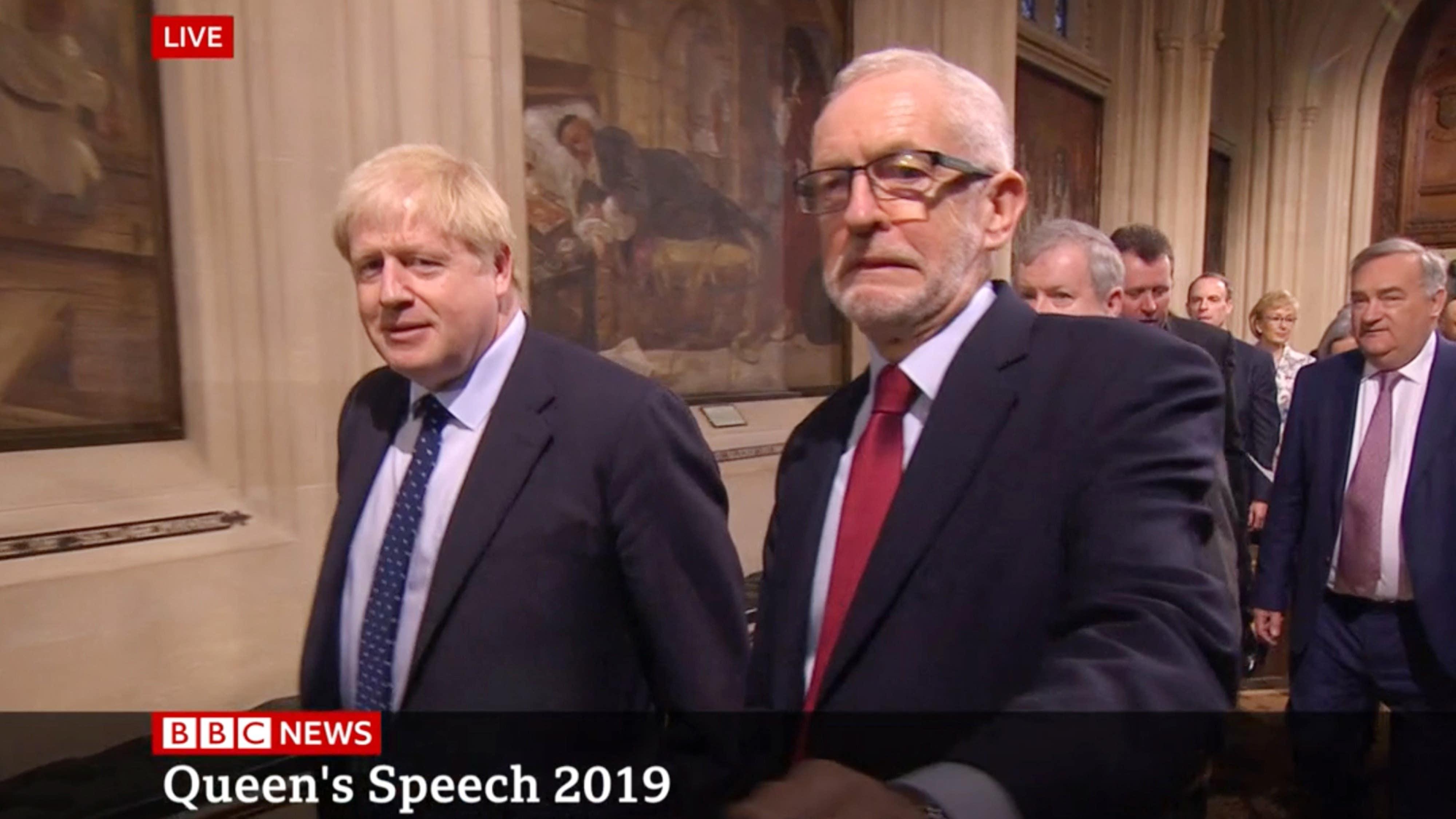 Jeremy Corbyn's grimace caught on camera