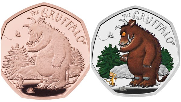 Gruffalo and Mouse special 50p coins go on sale