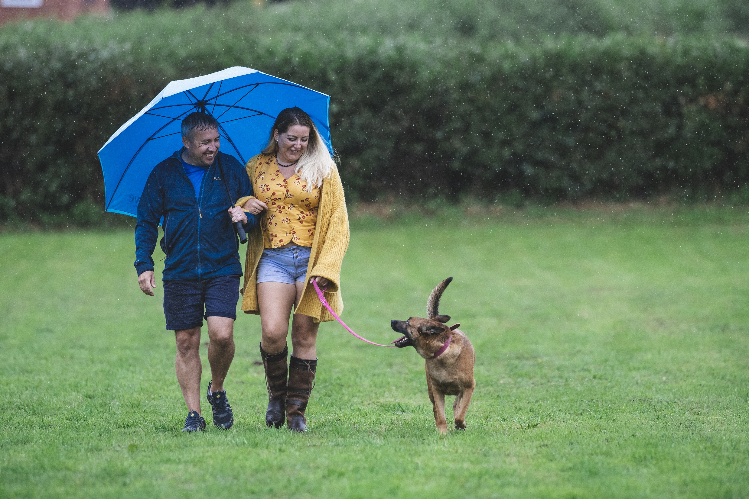 Faye and Richard Davies spent £20,000 on a field for their dog Lucy (Camelot/PA)