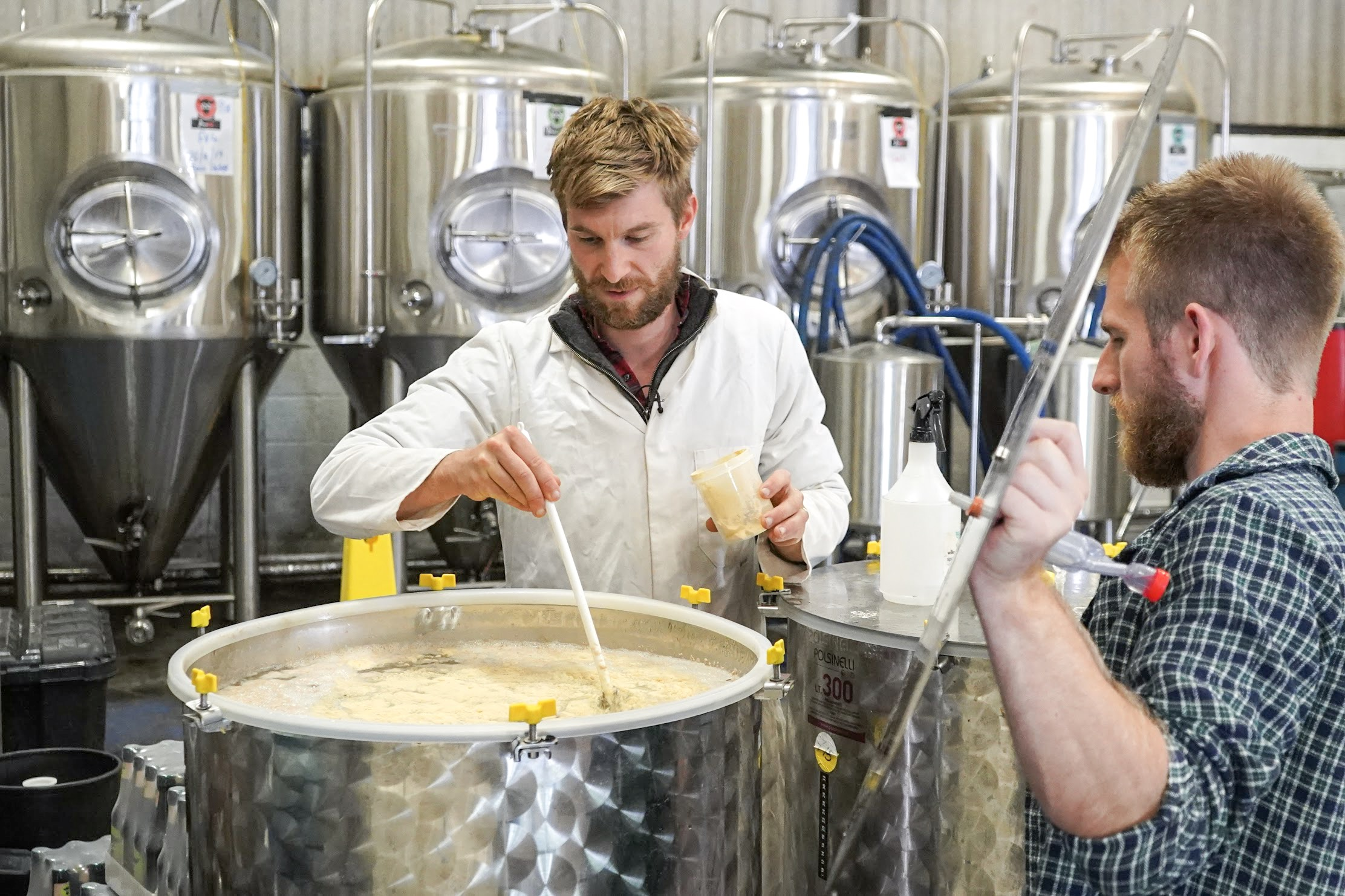 Matt Newell (left) and brother Kit (right) launched Wye Valley Meadery in January