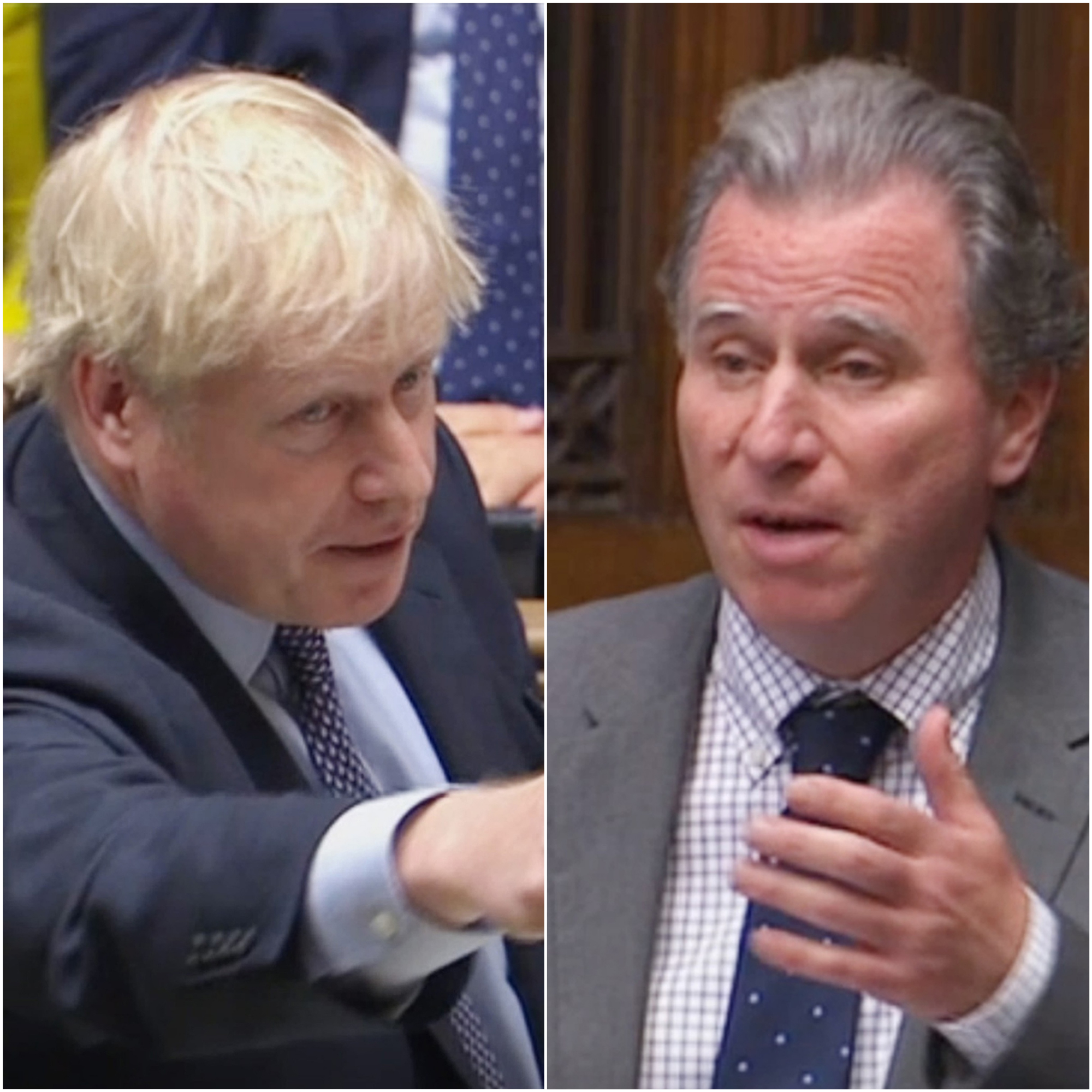 Sir Oliver Letwin (right) passed his amendment on Boris Johnson's deal (House of Commons/PA)