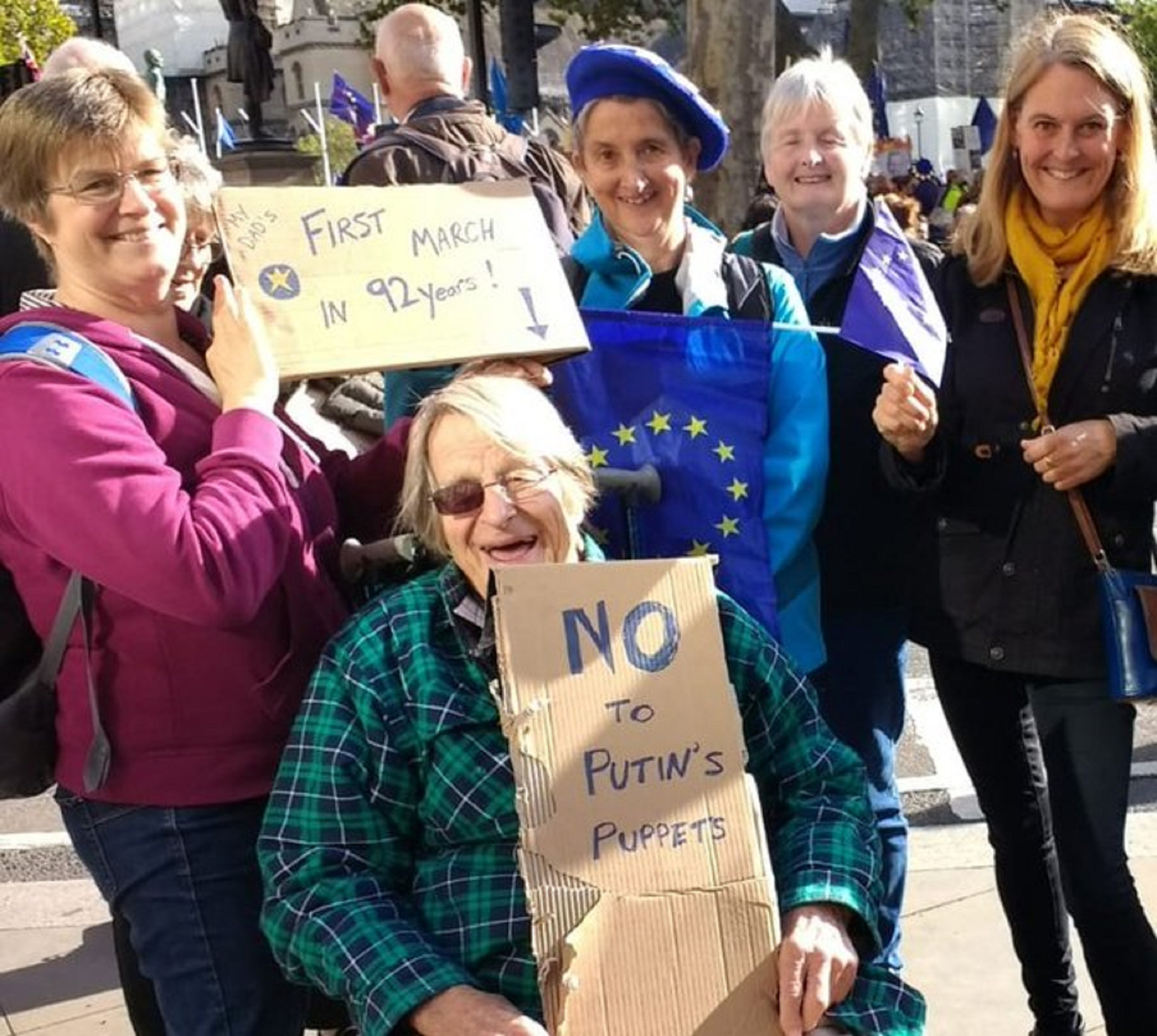 Uwe Kitzinger attends the People's Vote March in London