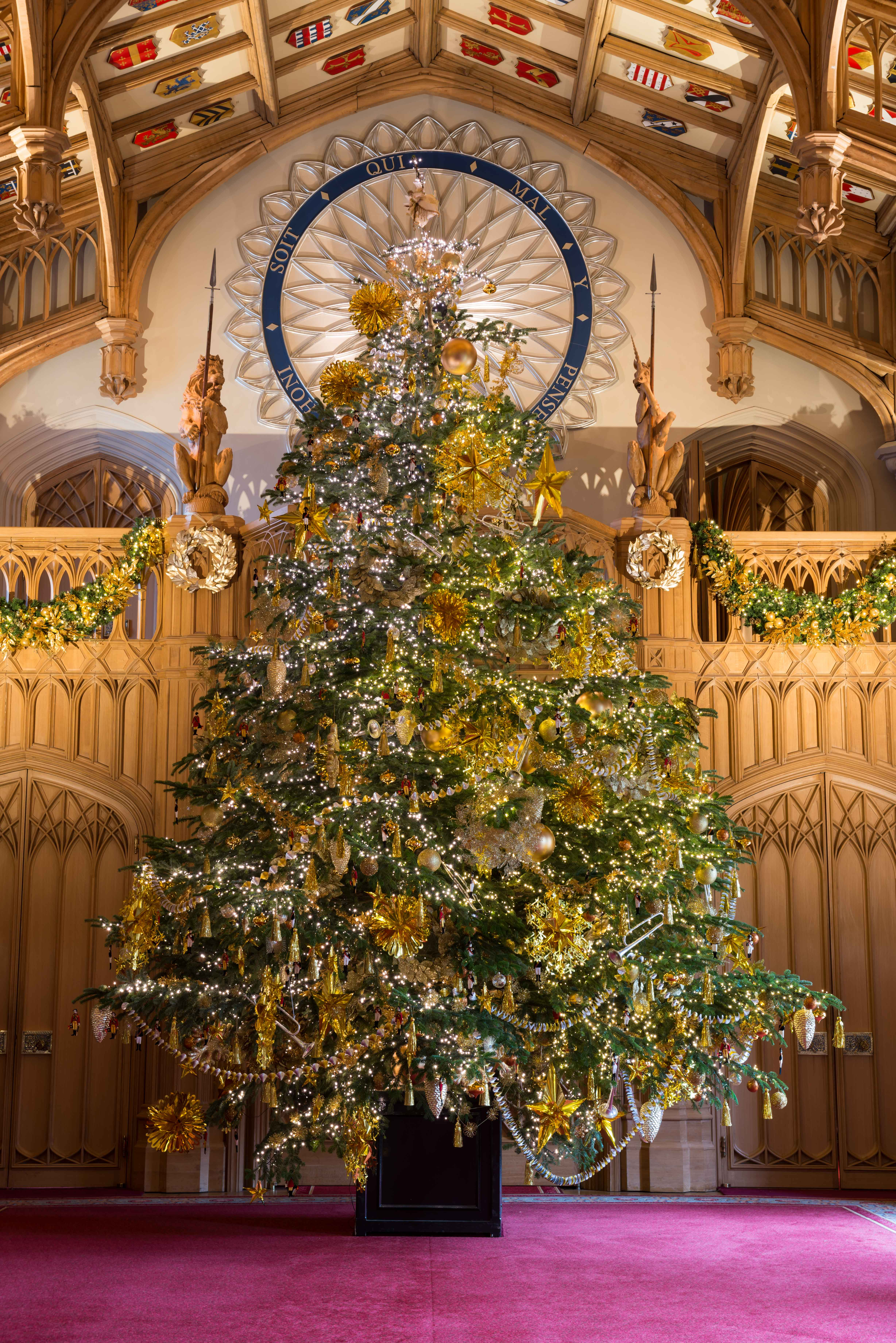 The Christmas tree in Windsor Castle