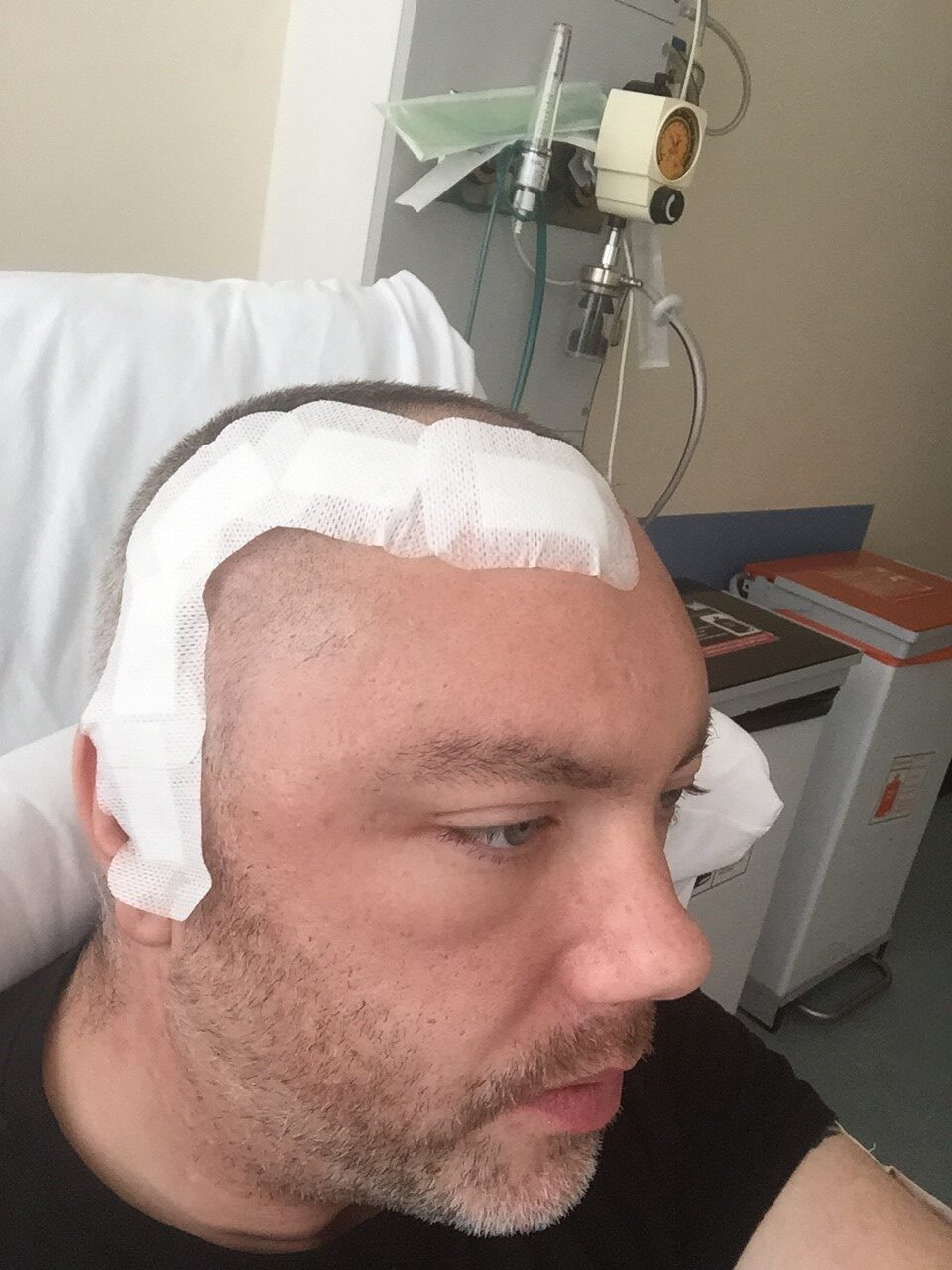 Jay Cramb after his surgery