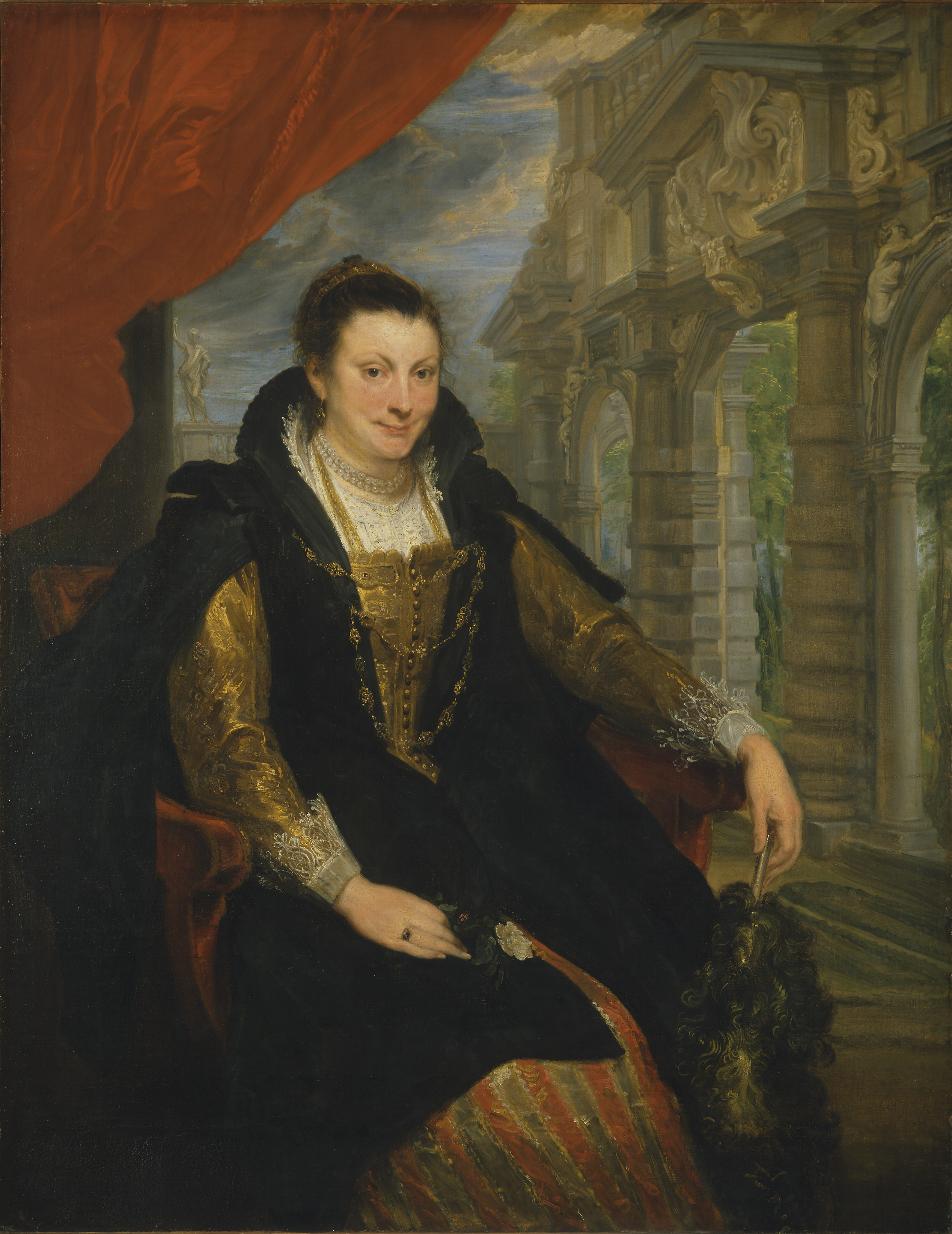 Portrait of Isabella Brant by Anthony Van Dyck (1621). Cambridge academic Dr John Harvey says the image suggests an adulterous romance between Van Dyck and Brant, the wife of Van Dyck's mentor Peter Paul Rubens. (National Gallery of Art, Washington/ PA)