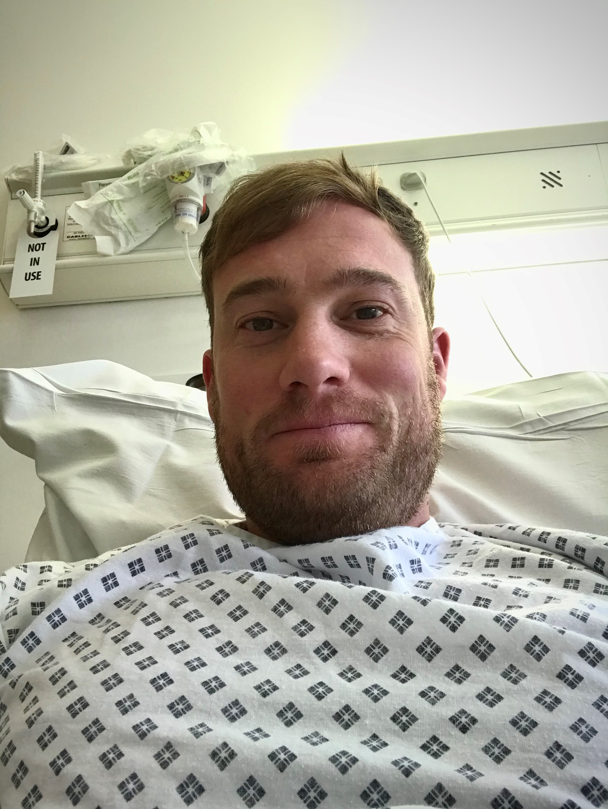 Rob Lewis in hospital