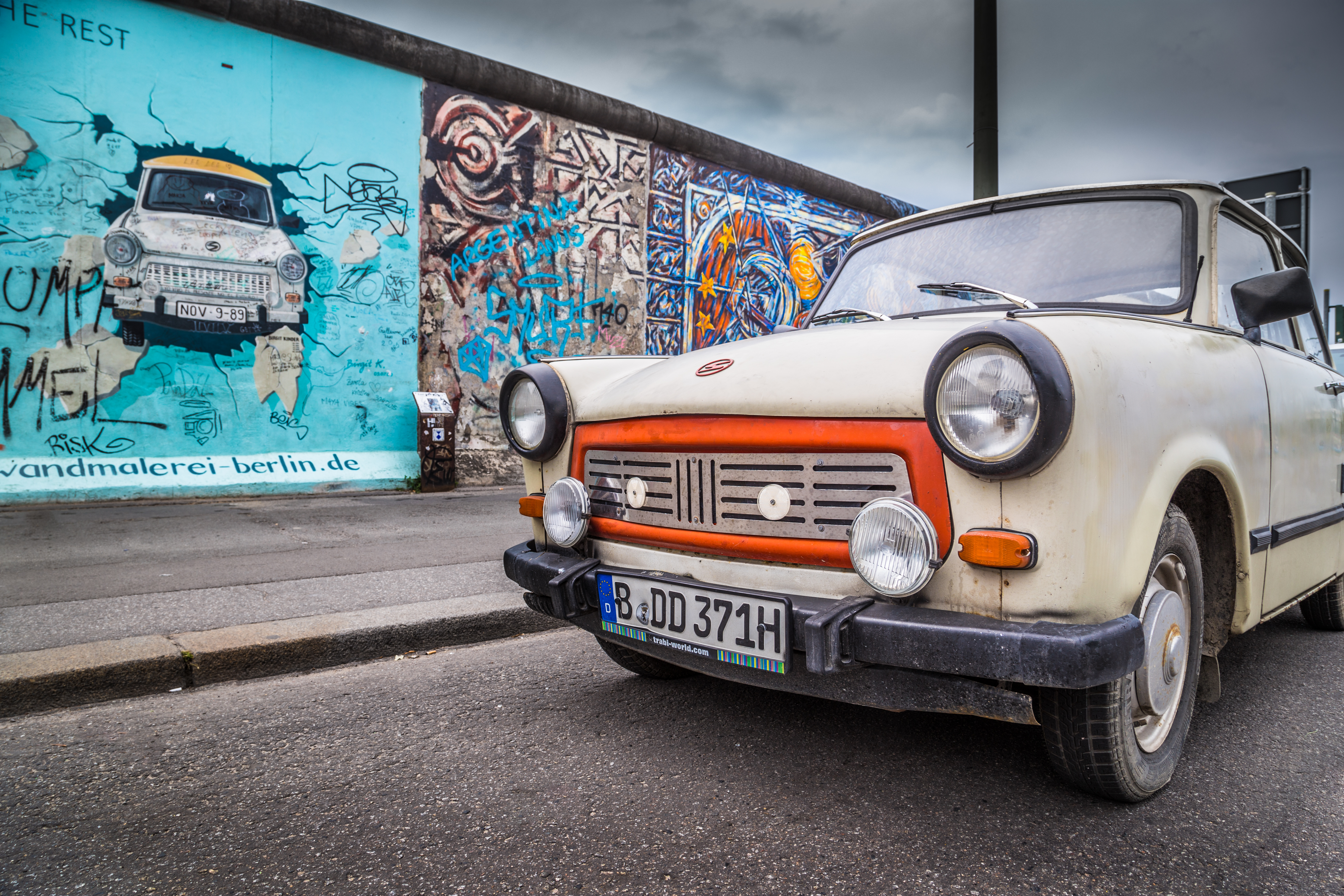 A Trabant by the Berlin Wall