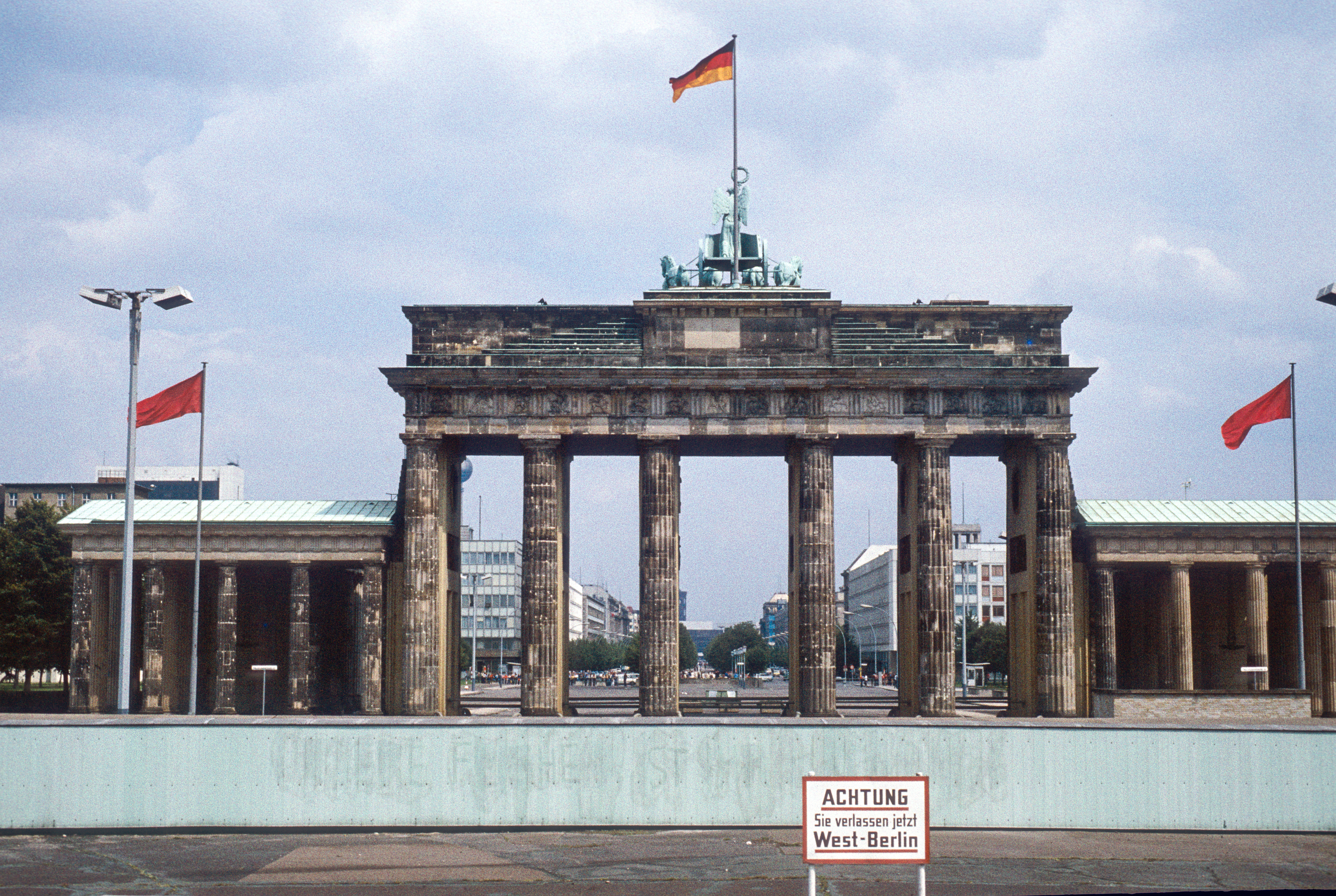 The Brandenburg Gate by the Berlin Wall