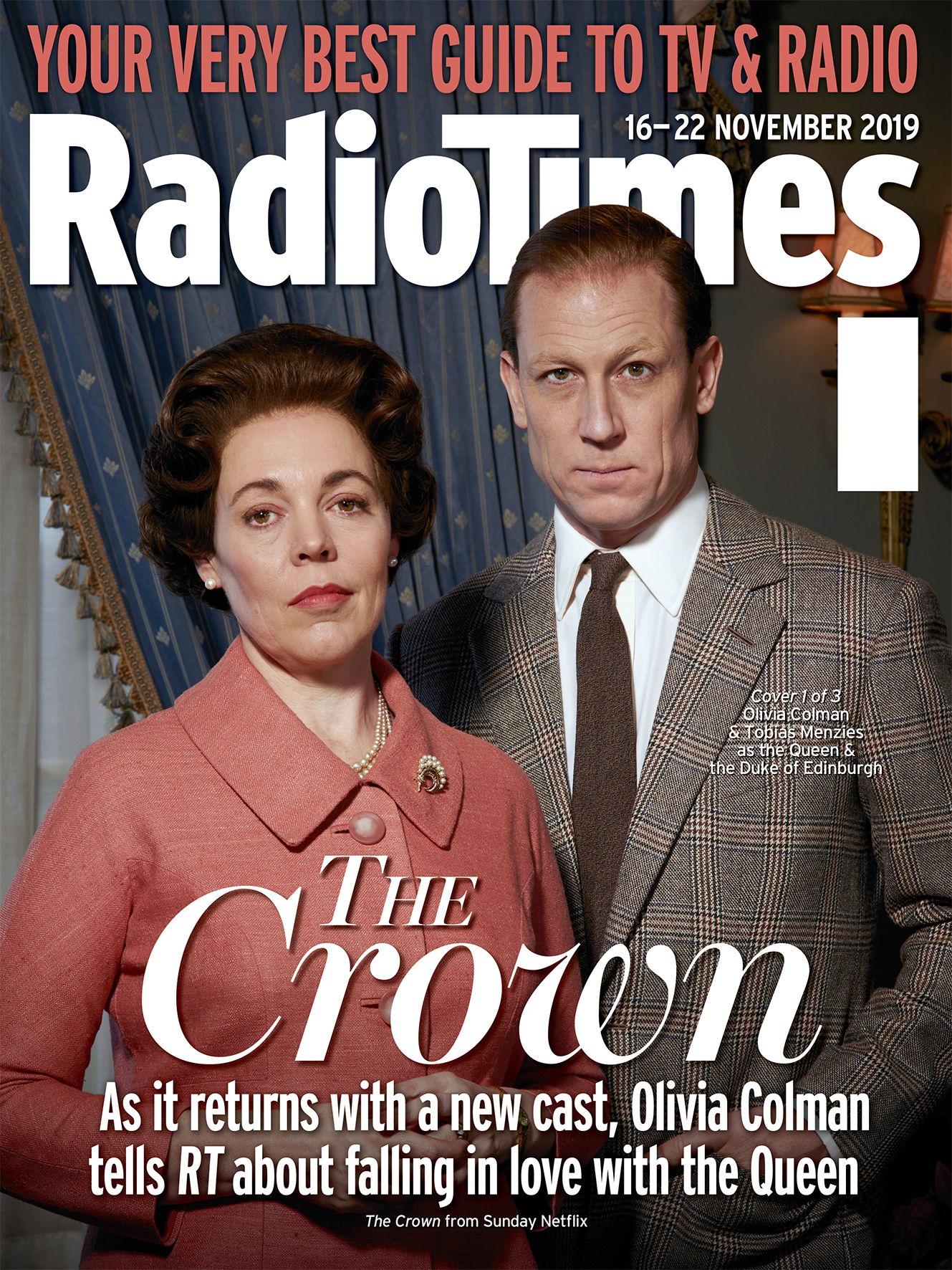 Olivia Colman and Tobias Menzies