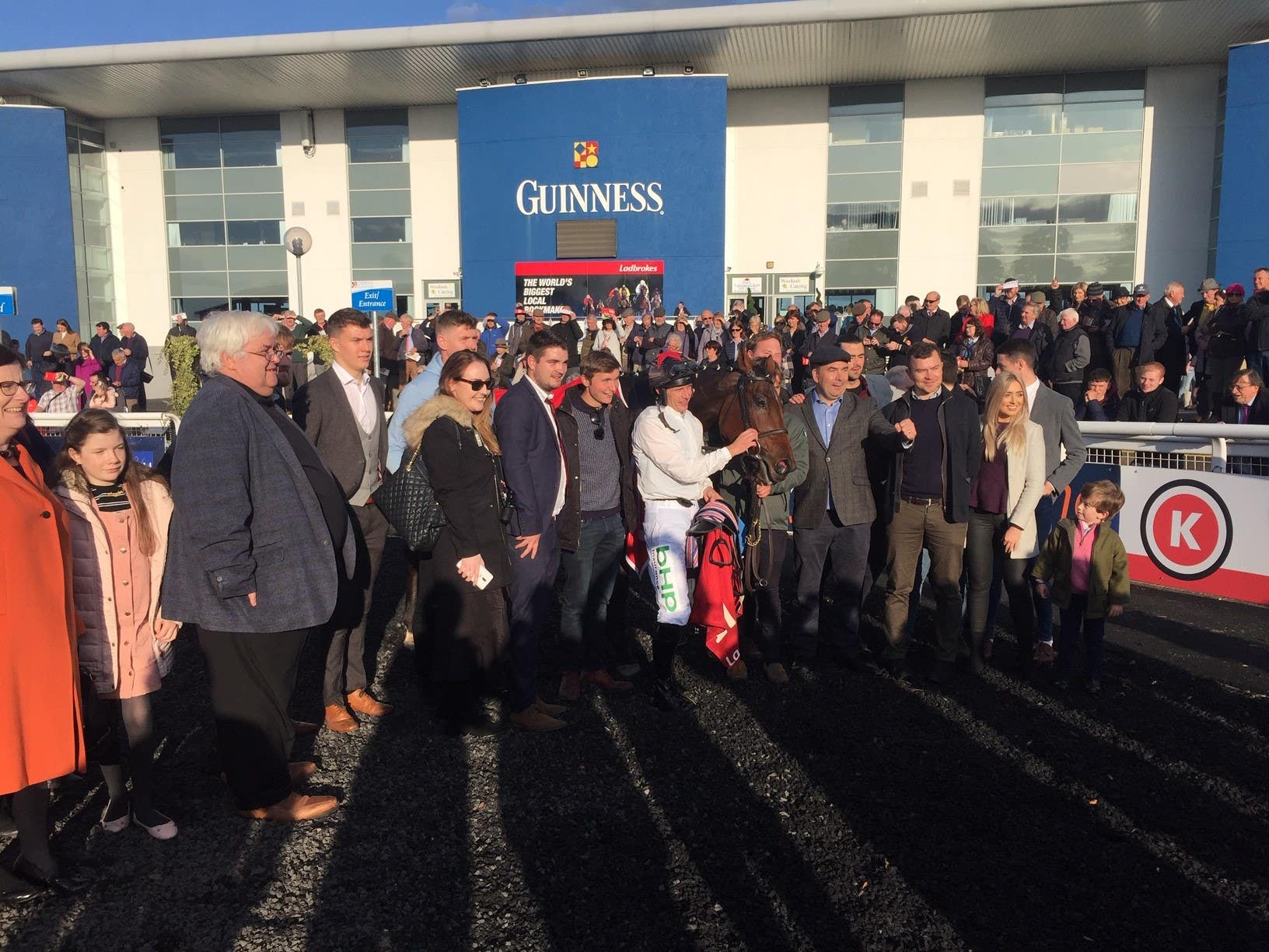 Winning connections with Cabaret Queen following her Munster National success (Thomas Weekes/PA)