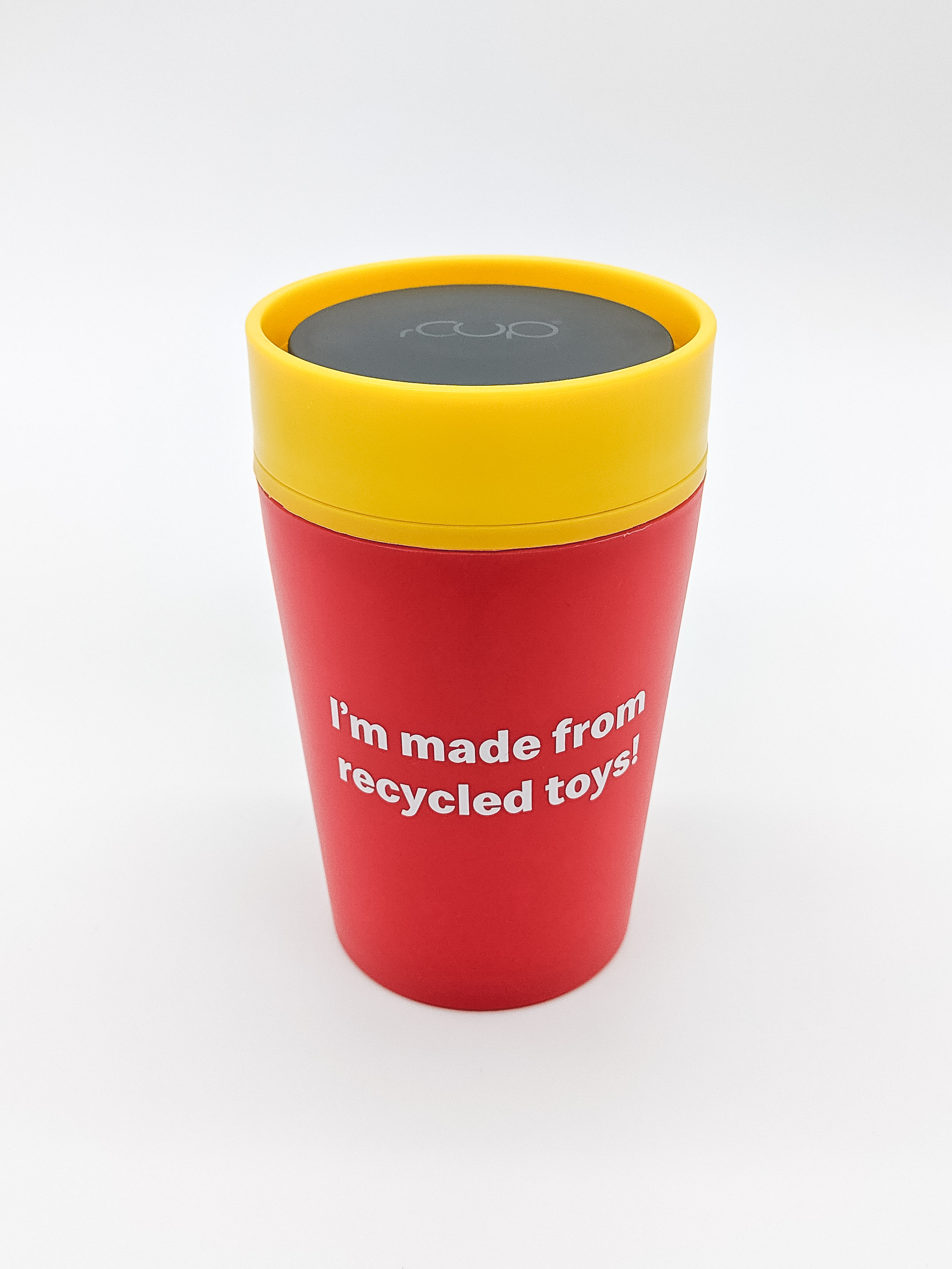 A reusable cup made from recycled toys. (McDonald's/PA)