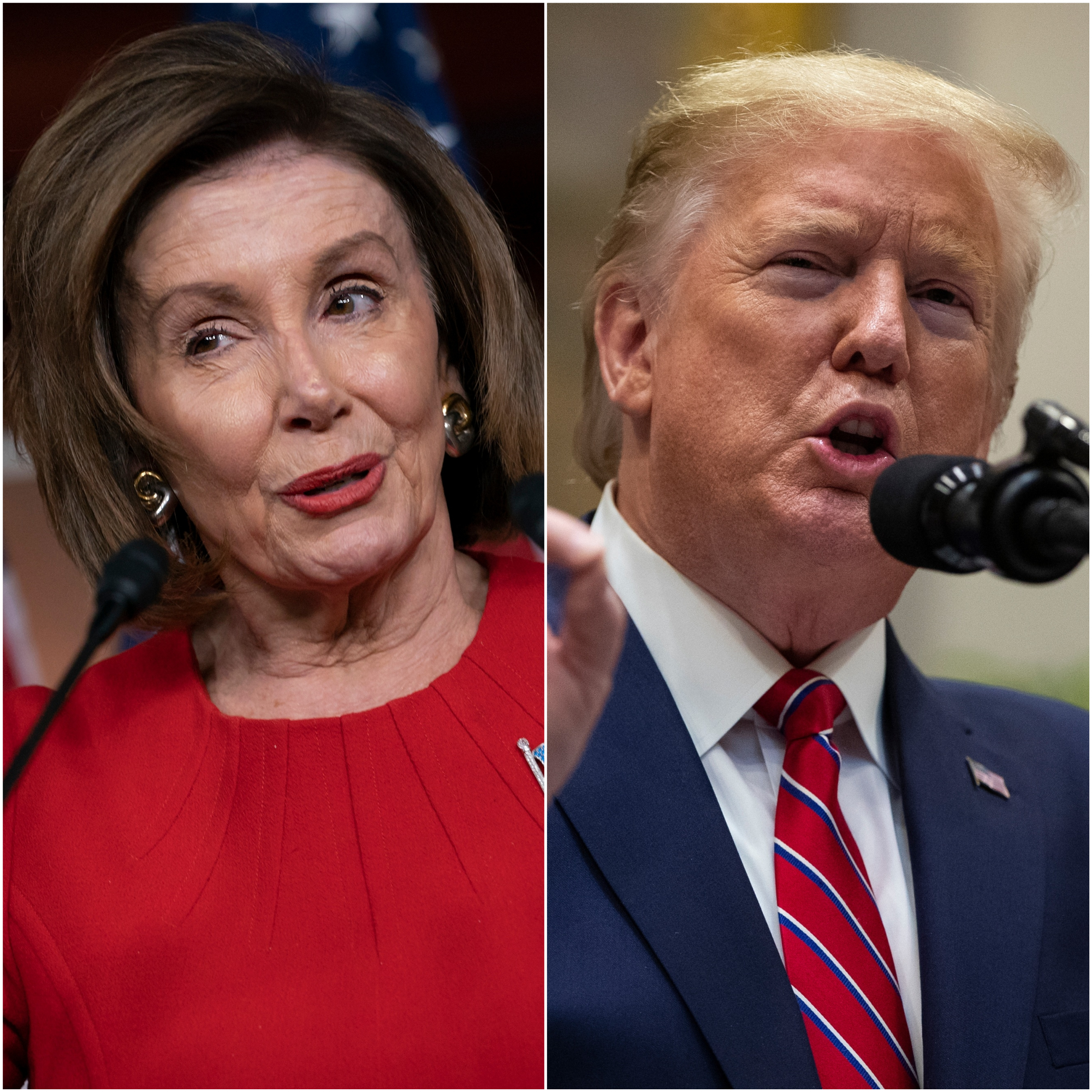 Nancy Pelosi and Donald Trump (J. Scott Applewhite/Evan Vucci/AP)