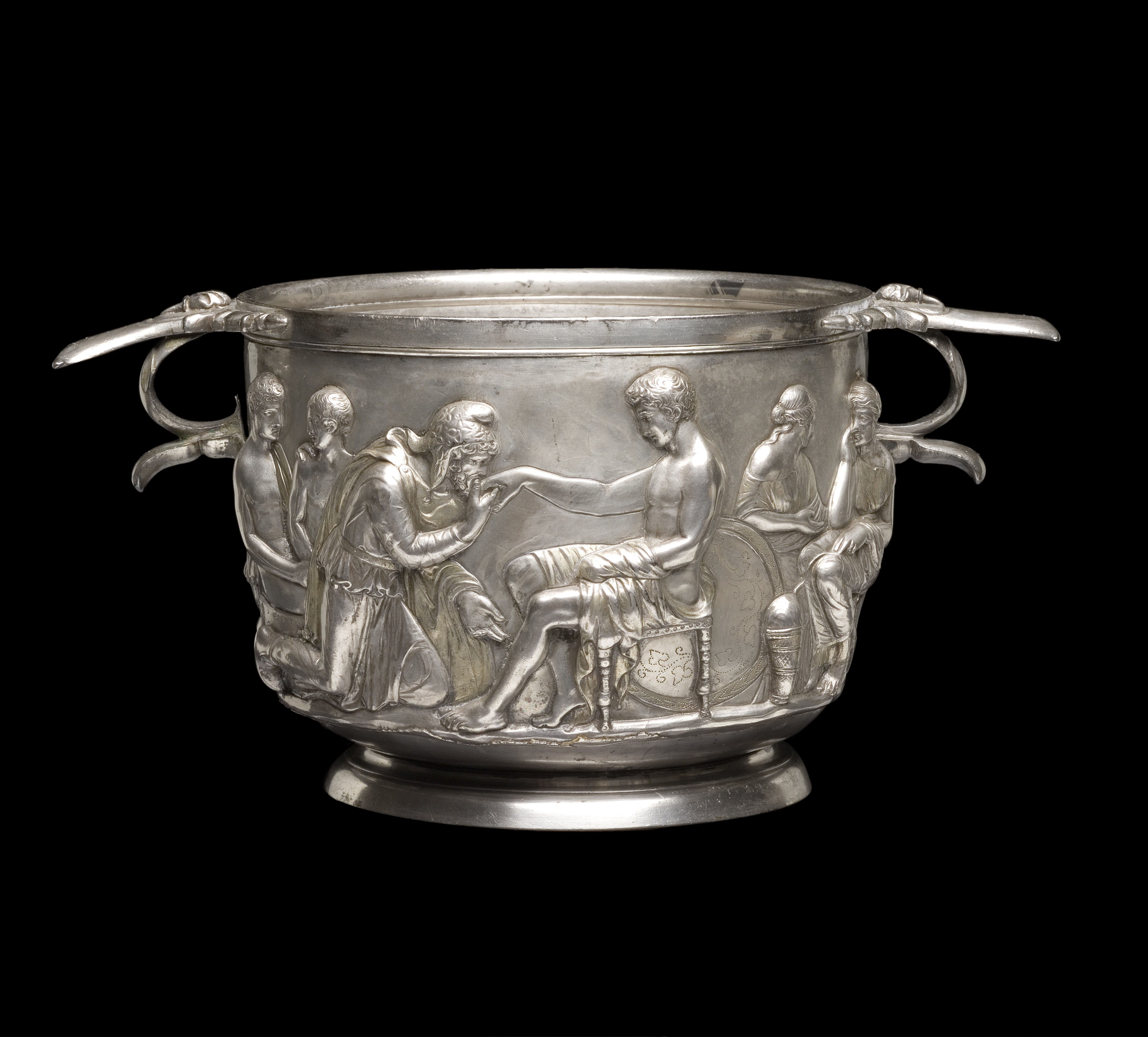 Priam and Achilles, Roman silver cup, 1st Century AD