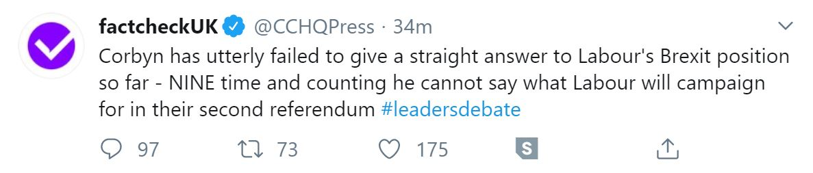 A tweet from @cchqpress