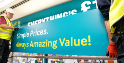 The new Poundland branding. (Poundland/PA)