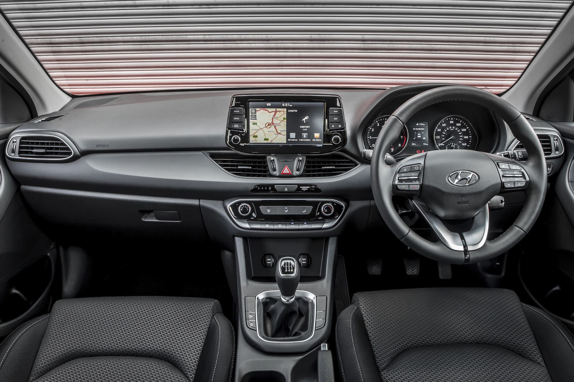 The i30's cabin is solidly made with several soft-touch materials