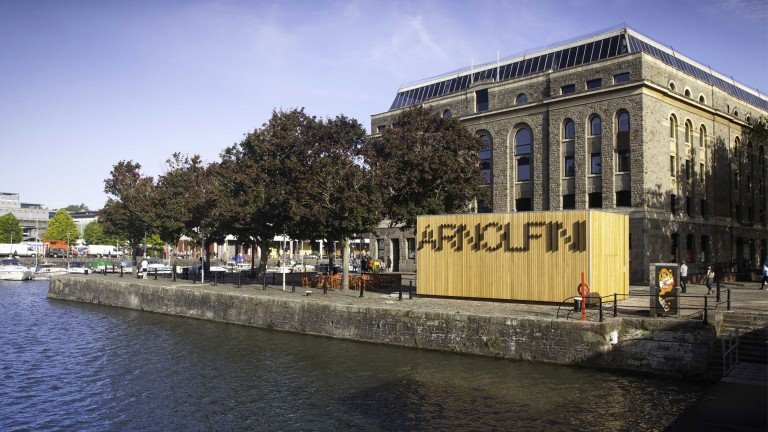 The Arnolfini cafe in Bristol