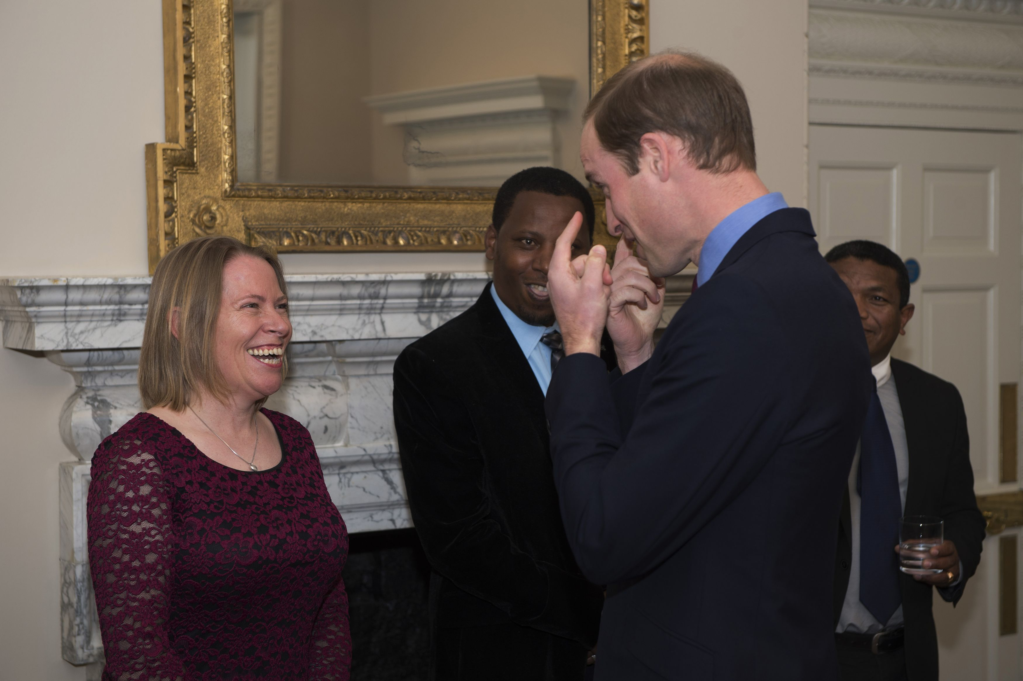 Dickman meets the Duke of Cambridge after being nominated in the Tusk Conservation Awards