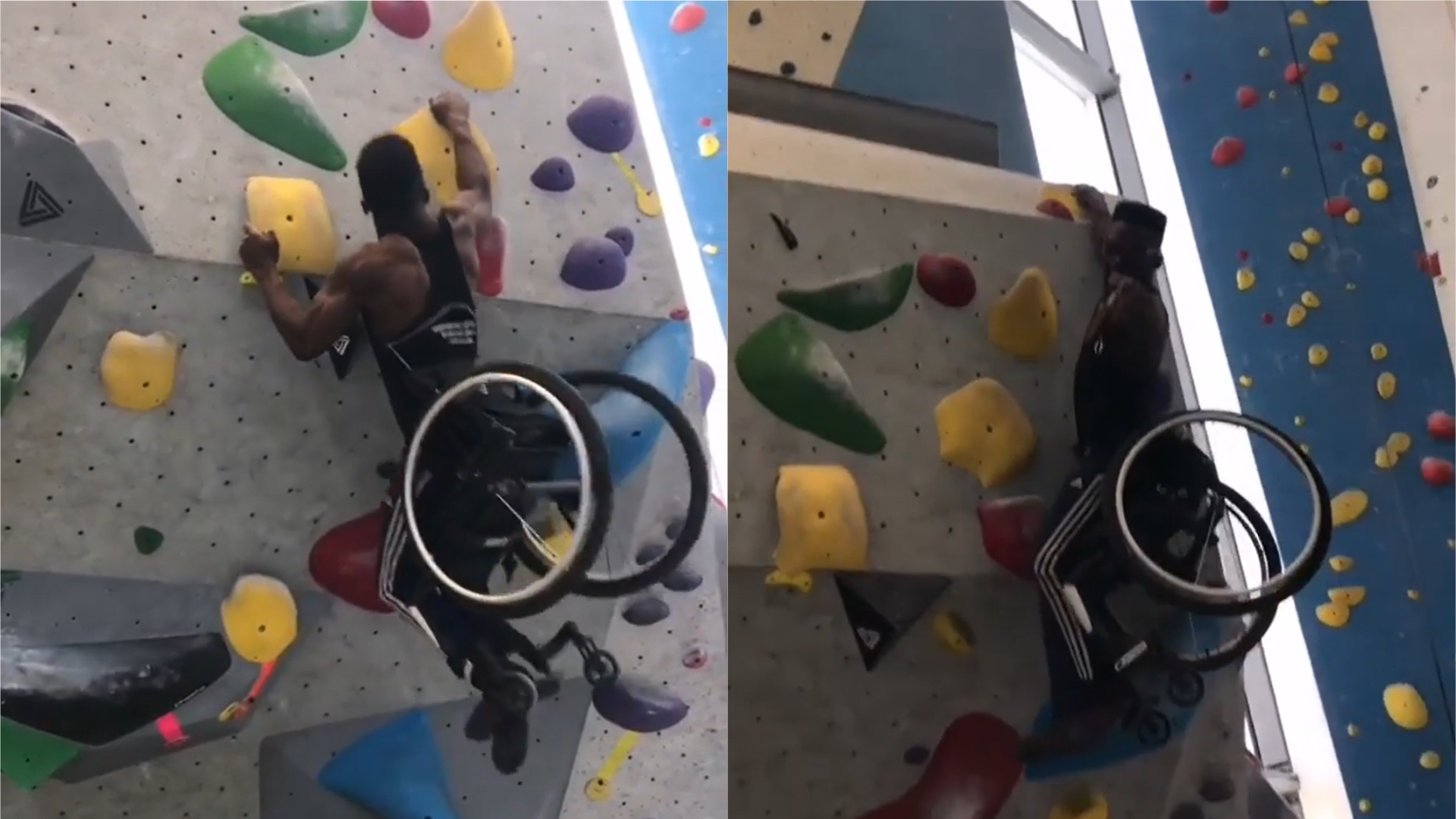 Student In Wheelchair Impressively Scales Climbing Wall After Just One Week Of Practice