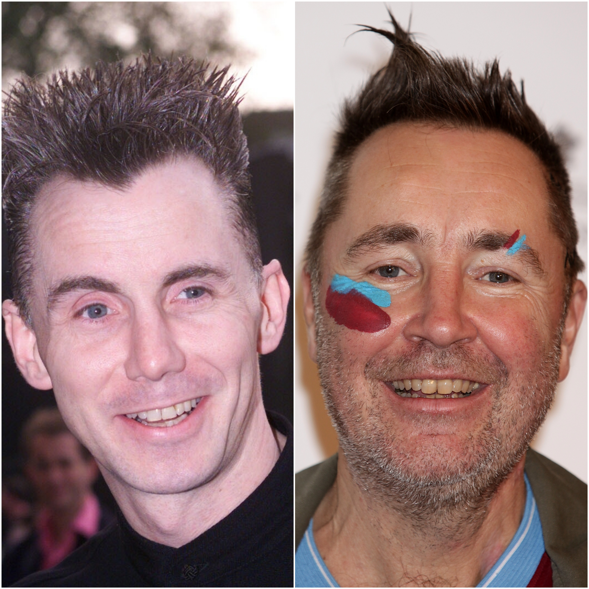 Gary Rhodes (left) was sometimes mistaken for violinist Nigel Kennedy due to their similar hairstyle (PA)